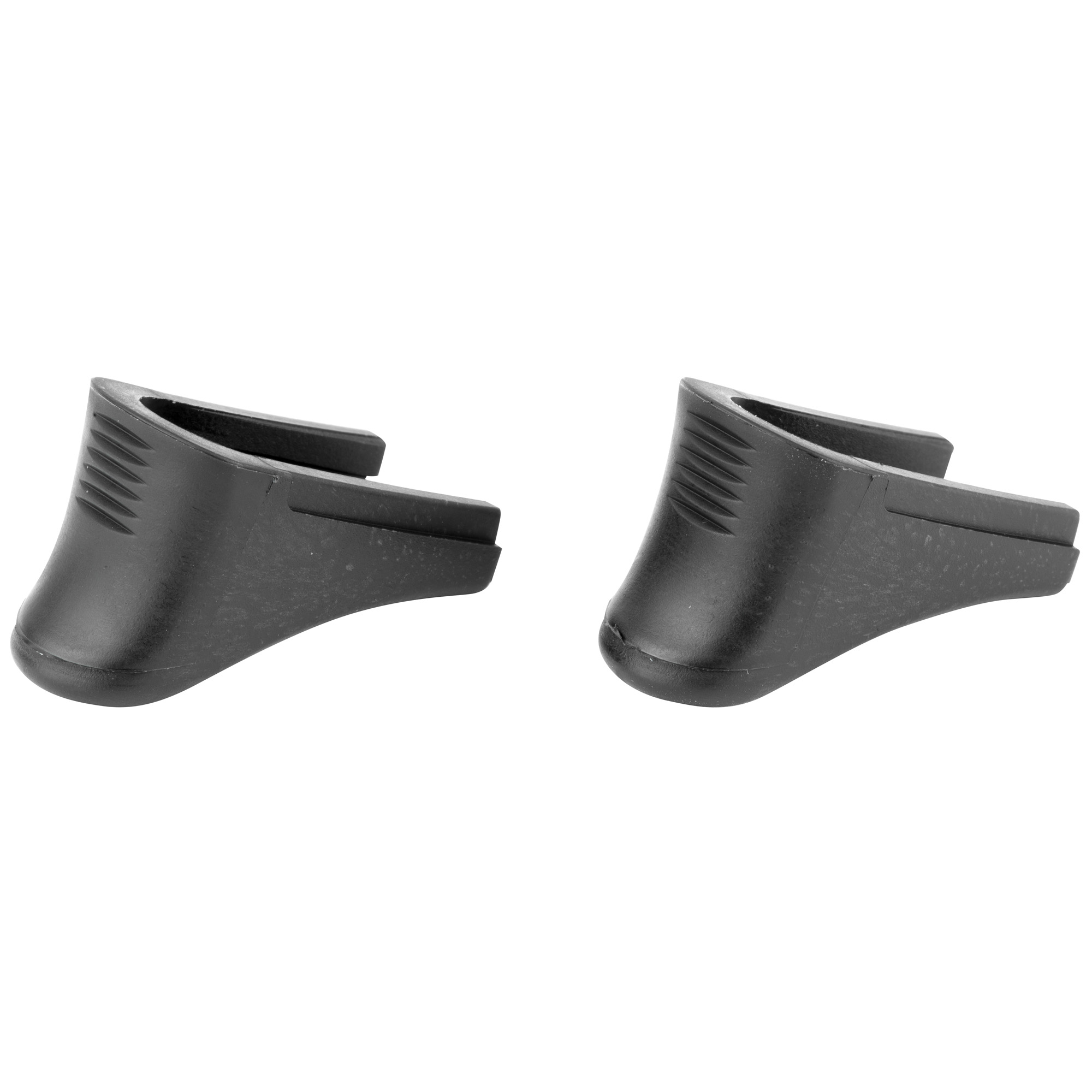 """These extensions replace the magazine base plate and retain all other factory components. They do not alter the capacity of the magazine. These units provide better comfort and control by adding approximately 1/2"""" of gripping surface. These extensions will only fit the LCP and LCPII in .380 cal and will not work on the 9mm Ruger models."""