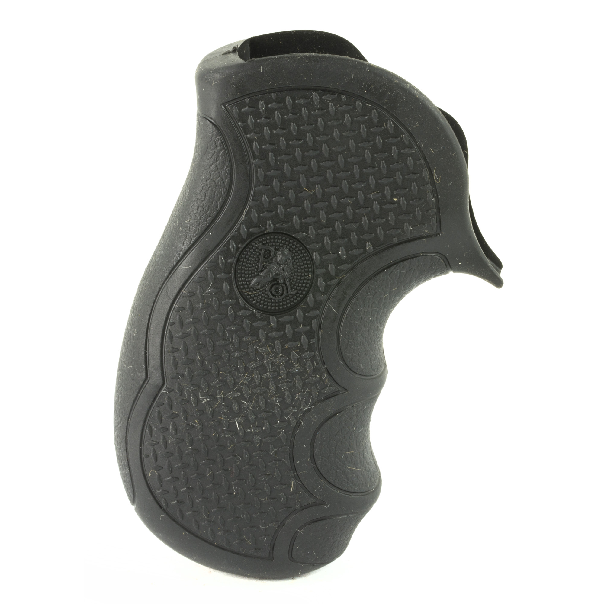 """Pachmayr is proud to introduce the Diamond Pro Series revolver grips. This grip line is designed to fill the hand comfortably"""" with natural feel and point. The unique shape is covered with our """"Diamond Plate"""" texture. This gives you rugged good looks and absolute control of your revolver"""" even under the heaviest recoil. The revolver grips are made using our specially blended rubber compounds"""" formulated to give you the long lasting soft feel you expect and the best recoil reduction you deserve. Order the Diamond Pro Series Grips by Pachmayr today for a revolver grip that improves comfort and performance."""