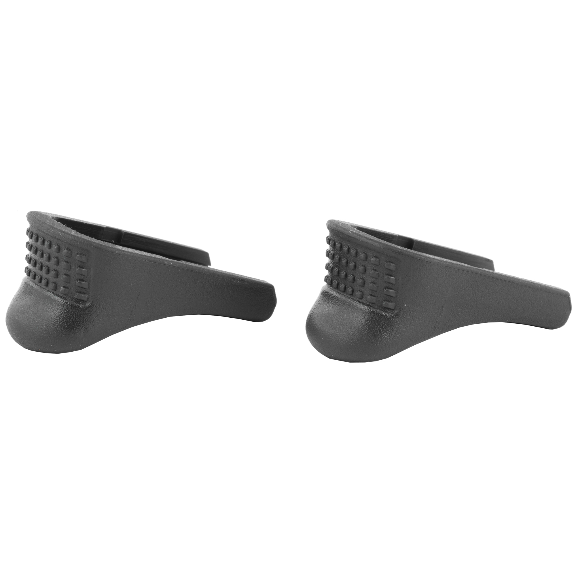 """Pachmayr's new Grip Extenders will greatly increase your control and shooting comfort when added to popular compact and sub-compact handguns. The extensions perfectly match the shape and texture of the handgun"""" so they look like they are part of the pistol"""" rather than an add-on. Extenders are easy to install and are made of tough"""" high strength polymer that stands up to the roughest handling. In addition"""" the Extenders come in a pack of two for a price similar to others on the market that only contain one."""
