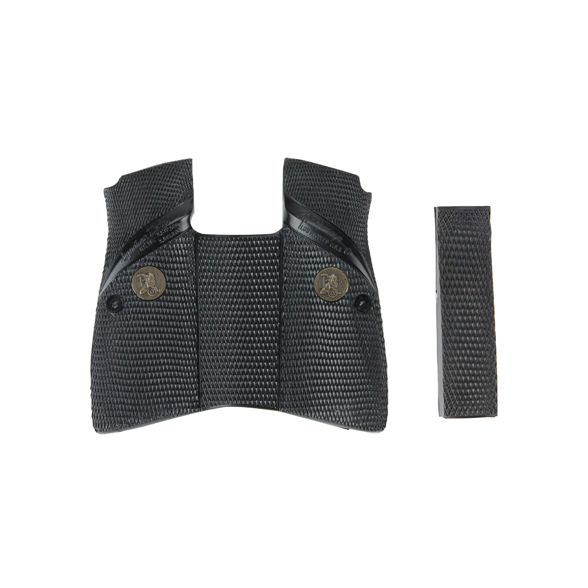 Pachmayr Signature Grips feature our unique full wrap-around design and are made from rubber specially formulated for use on semi-automatic pistols. This rubber compound gives them a feel that is unmistakably Pachmayr. Built-in steel inserts ensure they maintain their shape. Signature Grips are the overwhelming choice of competitive shooters and law enforcement personnel alike.