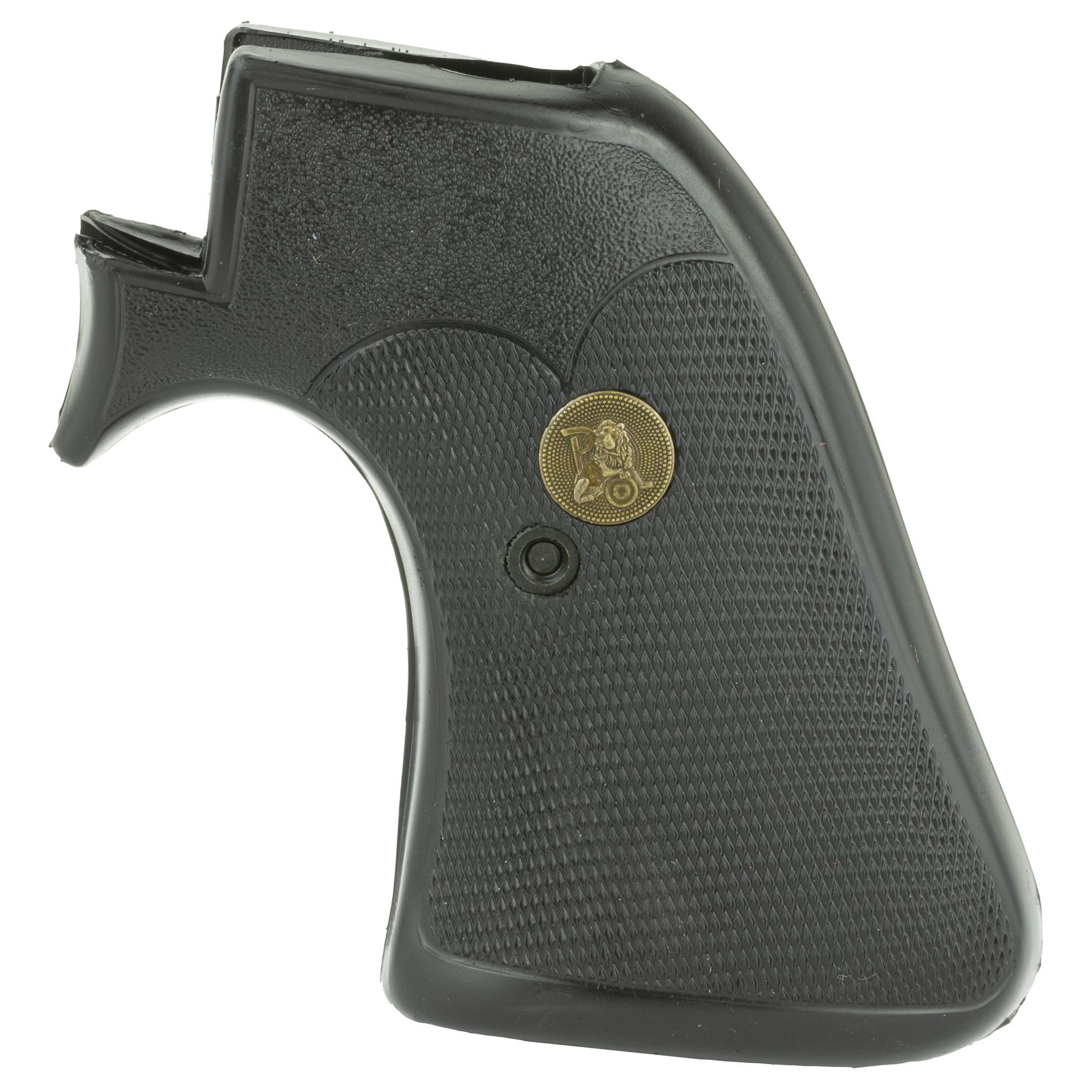 """The first grip design developed by Frank Pachmayr. This popular revolver grip has been the mainstay of their line since the beginning and it remains popular. Pachmayr Presentation Grips feature their patented design"""" classic styling"""" and a magnificent finish with deep checkering for control and a superb shiny finish. Just look at your father's revolver and you will notice that the Presentation grips look great for years and are practically indestructible. Add a classic feel to your revolver with the Presentation Grips by Pachmayr."""