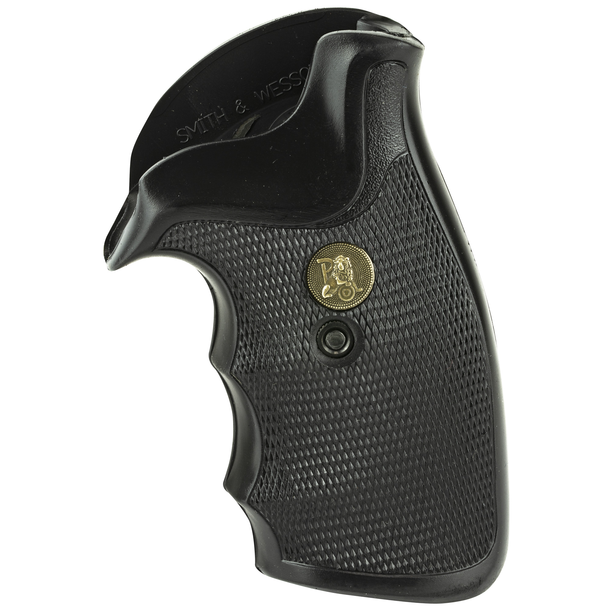 Pachmayr Gripper grips are made from a specially formulated rubber compound which optimizes control and recoil absorption. The finger groove style is popular for combat shooting and hunting. A covered backstrap and slight palm swell fills the hand but is not so large as to be uncomfortable. Gripper grips are fully checkered for appearance as well as for control.