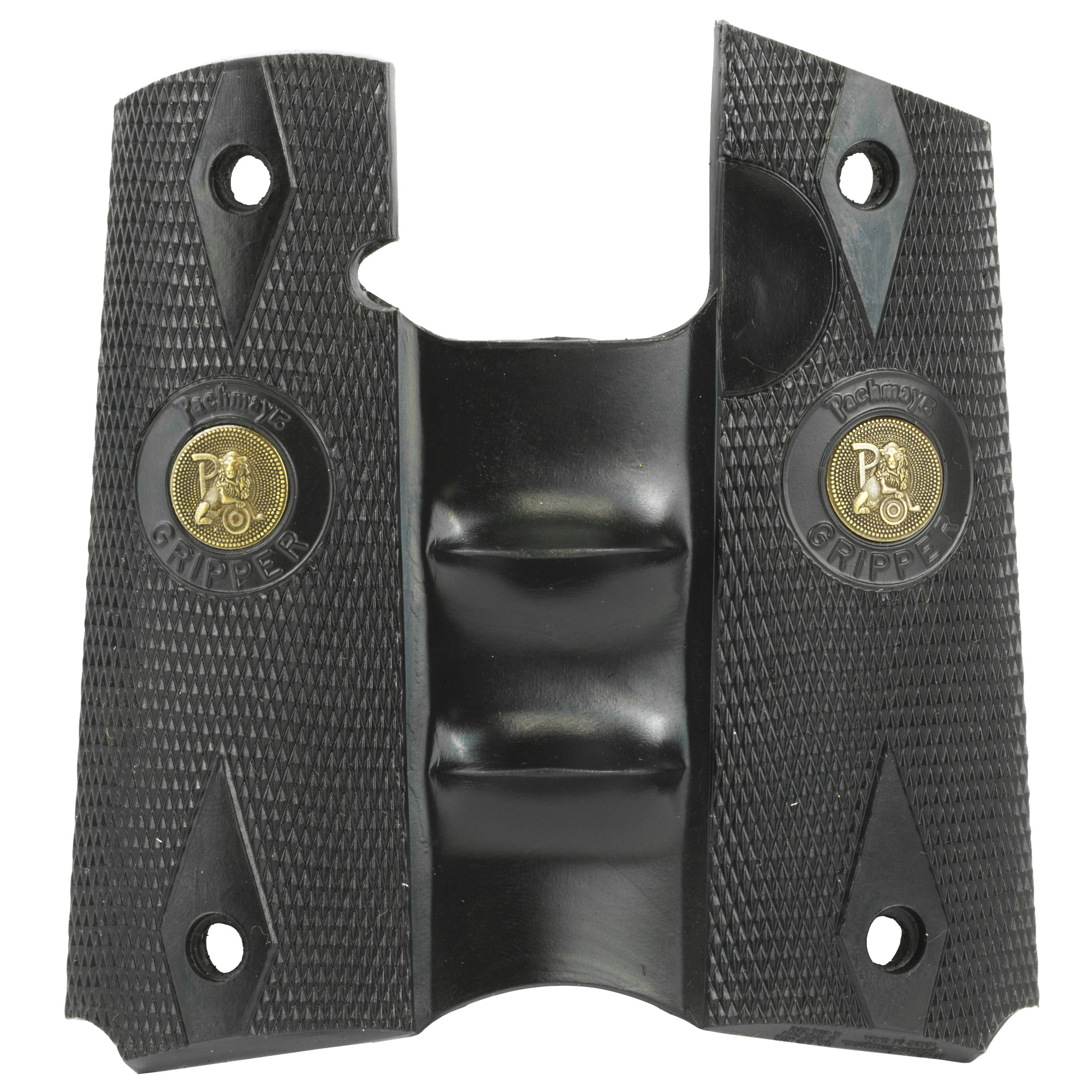 Pachmayr Signature Grips feature their unique full wrap-around design and are made from rubber specially formulated for use on semi-automatic pistols. This rubber compound gives them a feel that is unmistakably Pachmayr. Built-in steel inserts ensure they maintain their shape. Signature Grips are the overwhelming choice of competitive shooters and law enforcement personnel alike. Available in the widest variety of models for most of the popular semi-automatic pistols. Each is designed for a specific pistol and its anticipated use.