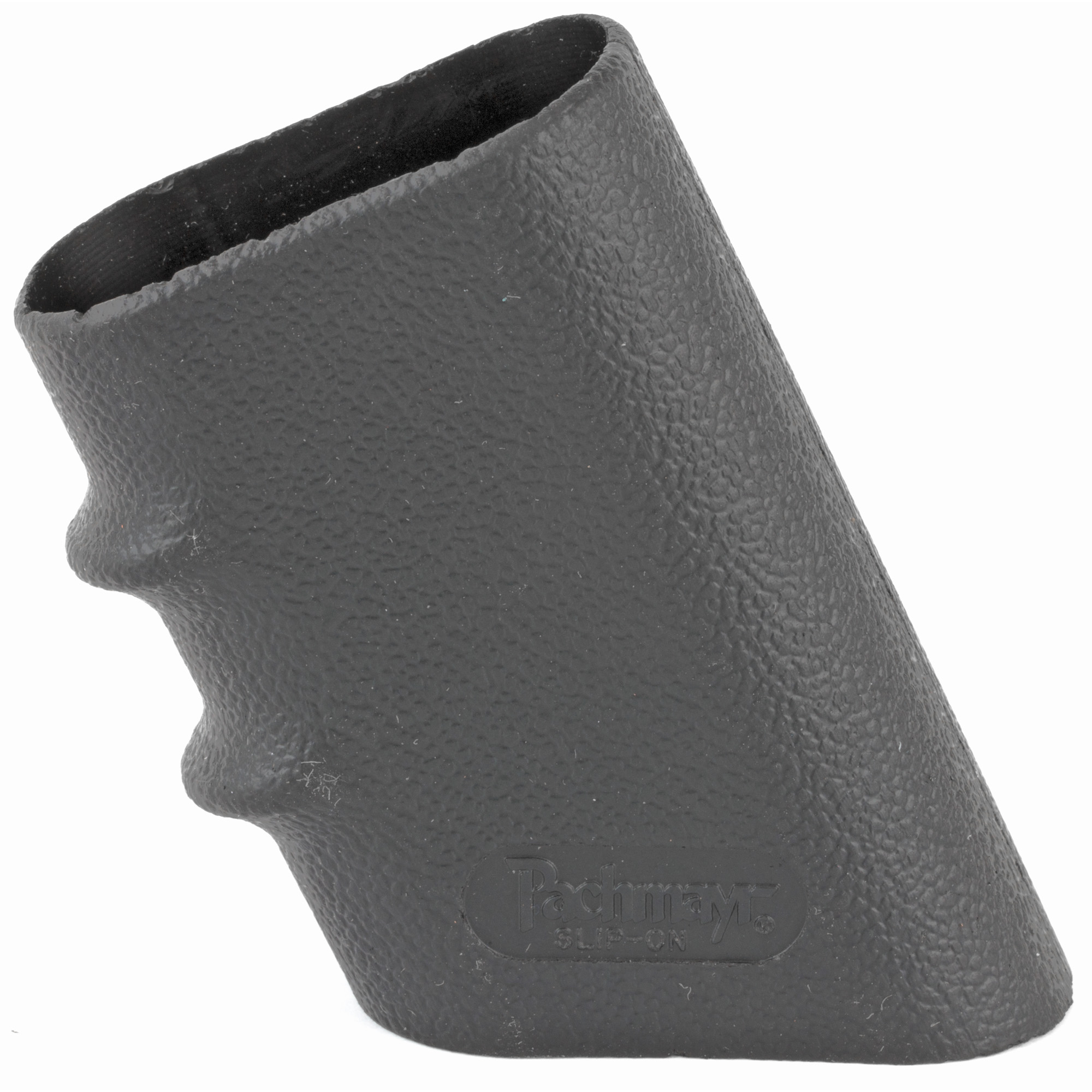Made from a special rubber formula that gives superior stretch yet maintains tight fit on almost all gun frames. Designed for easy installation and available in five sizes to eliminate the need to cut the grip to fit. Five models cover the range of semi-auto pistol frame sizes. Four sizes come with finger grooves.