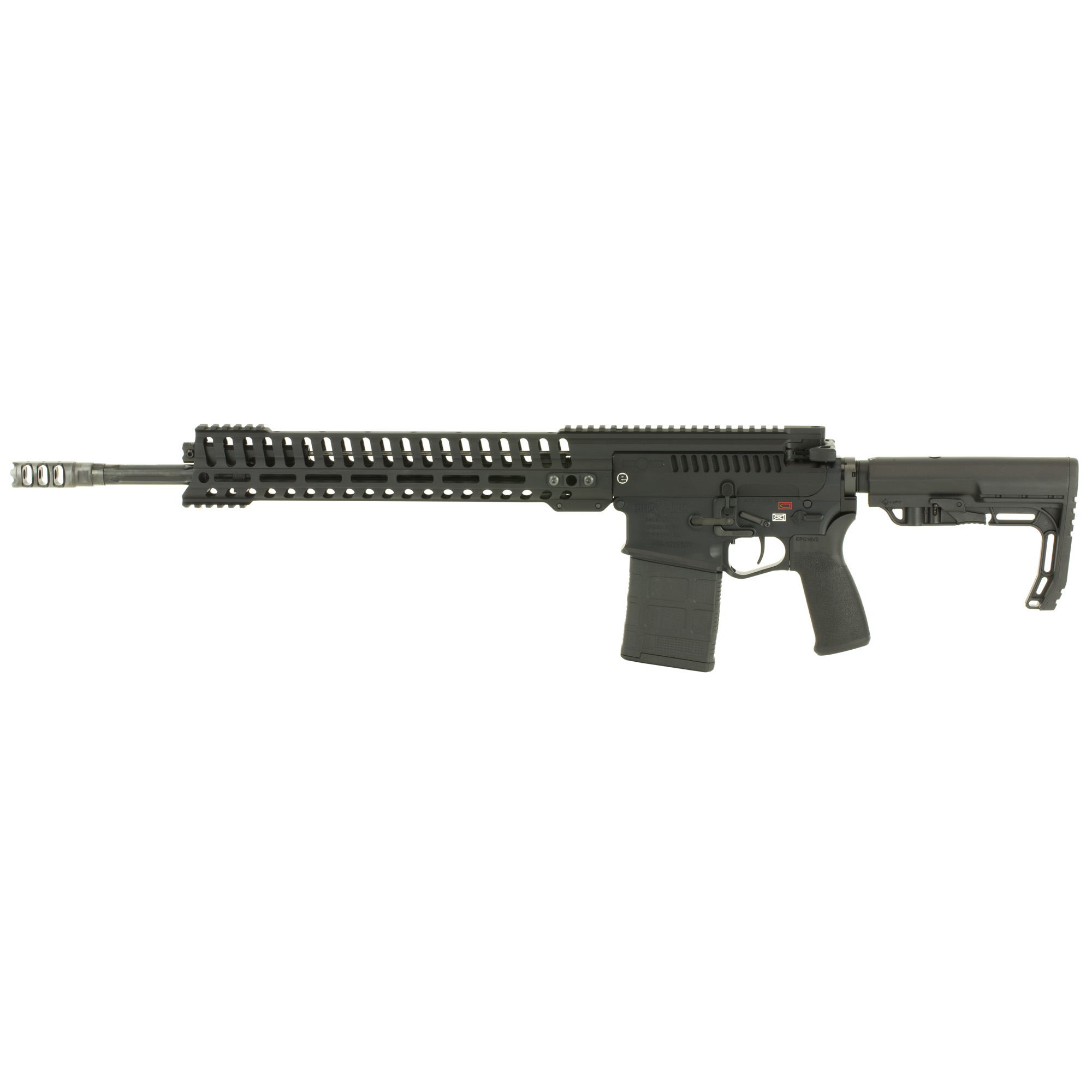 "The Revolution(TM) is POF's new .308 rifle that handles like a 5.56. The Revolution features many 5.56 parts; such as charging handle"" bolt carrier"" cam pin"" buffer"" heat sink barrel nut"" handguard"" and 5-position gas piston operating system. The barrel extension"" bolt assembly"" upper"" and lower receiver are the exact same size as those on an AR15."