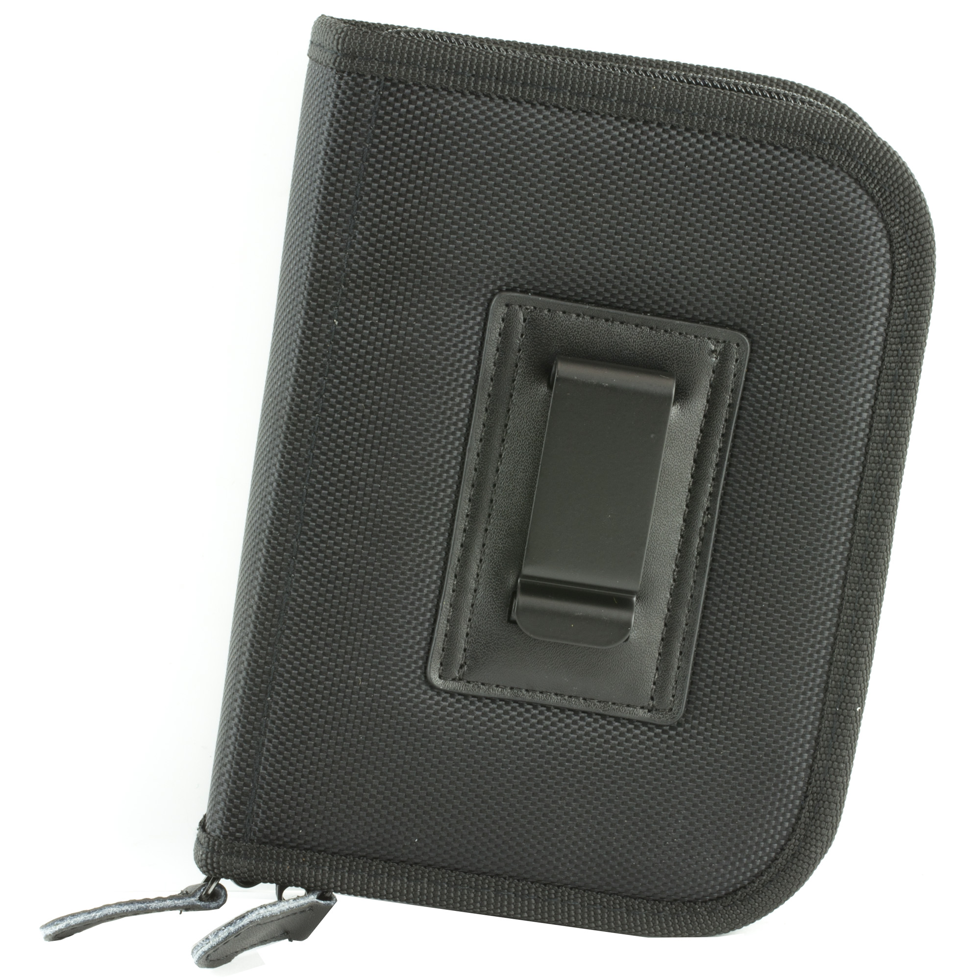 This small Holster-Mate Case holds up to 2 small pistols and 2 extra magazines. Convenient for home and travel.