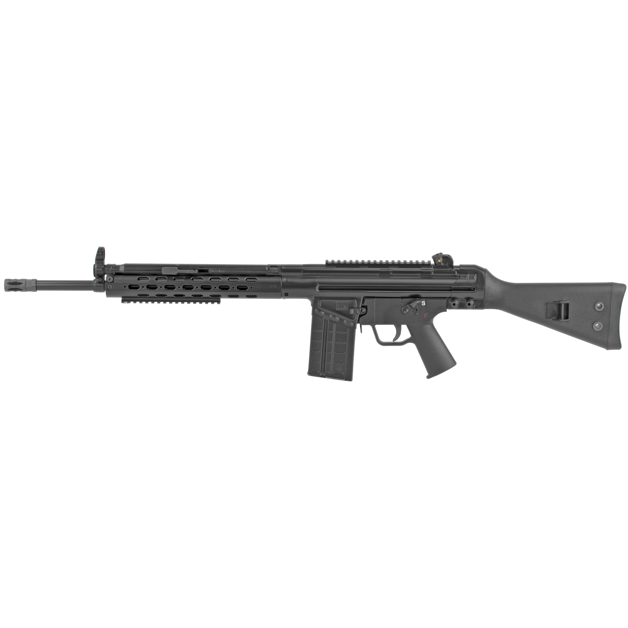"""The FR model features an 18"""" bull barrel and aluminum milled handguard with added 6.5"""" accessory rail. The precision-welded top rail allows for adding your favorite optic or you can use the traditional iron sights (included)."""