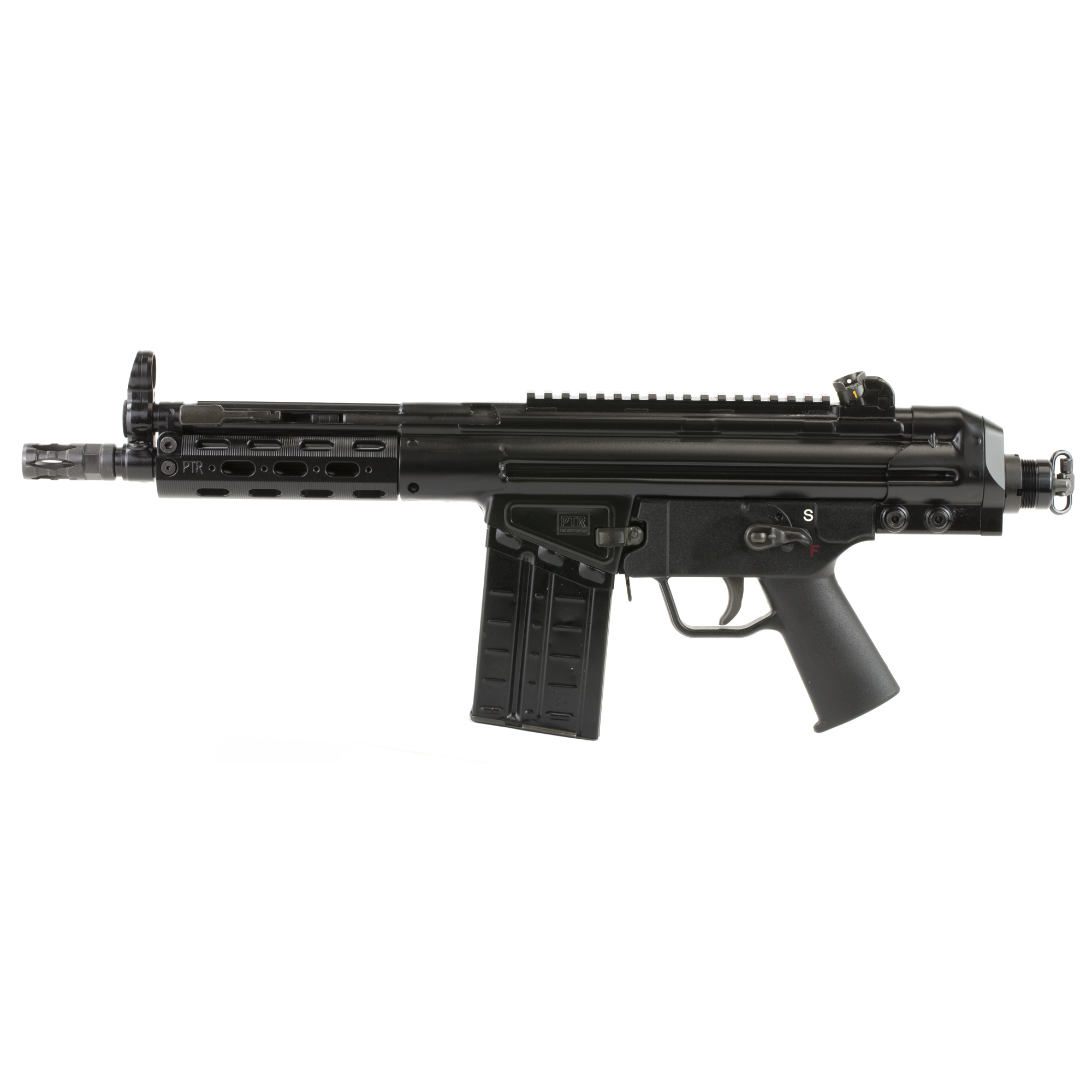 """The PDWR pistol features the aluminum milled handguard with an 8.5"""" bull barrel. The precision-welded top rail allows the addition of your favorite optic or use the traditional iron sights (included). The end cap is compatible with M4 buffer tubes or the included swivel end adapter. Includes one 20-round magazine."""