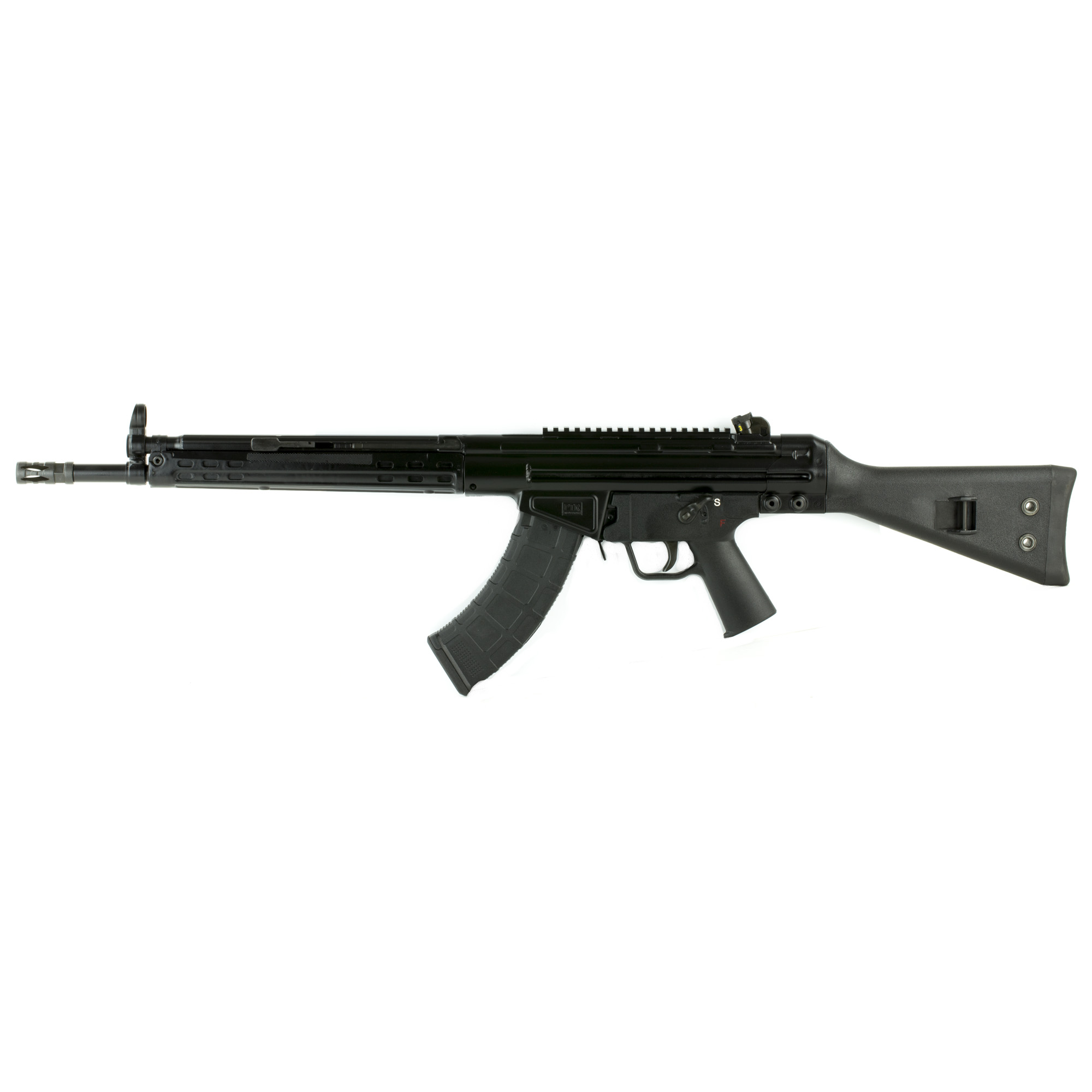"""The 32 KFR rifle features a 16"""" bull barrel and a slim-line black polymer handguard. The precision-welded top rail allows for adding your favorite optic or you can use the traditional iron sights (included). This rifle is chambered in 7.62 x 39 and ships with a Magpul AK magazine. Accepts most AK magazines."""