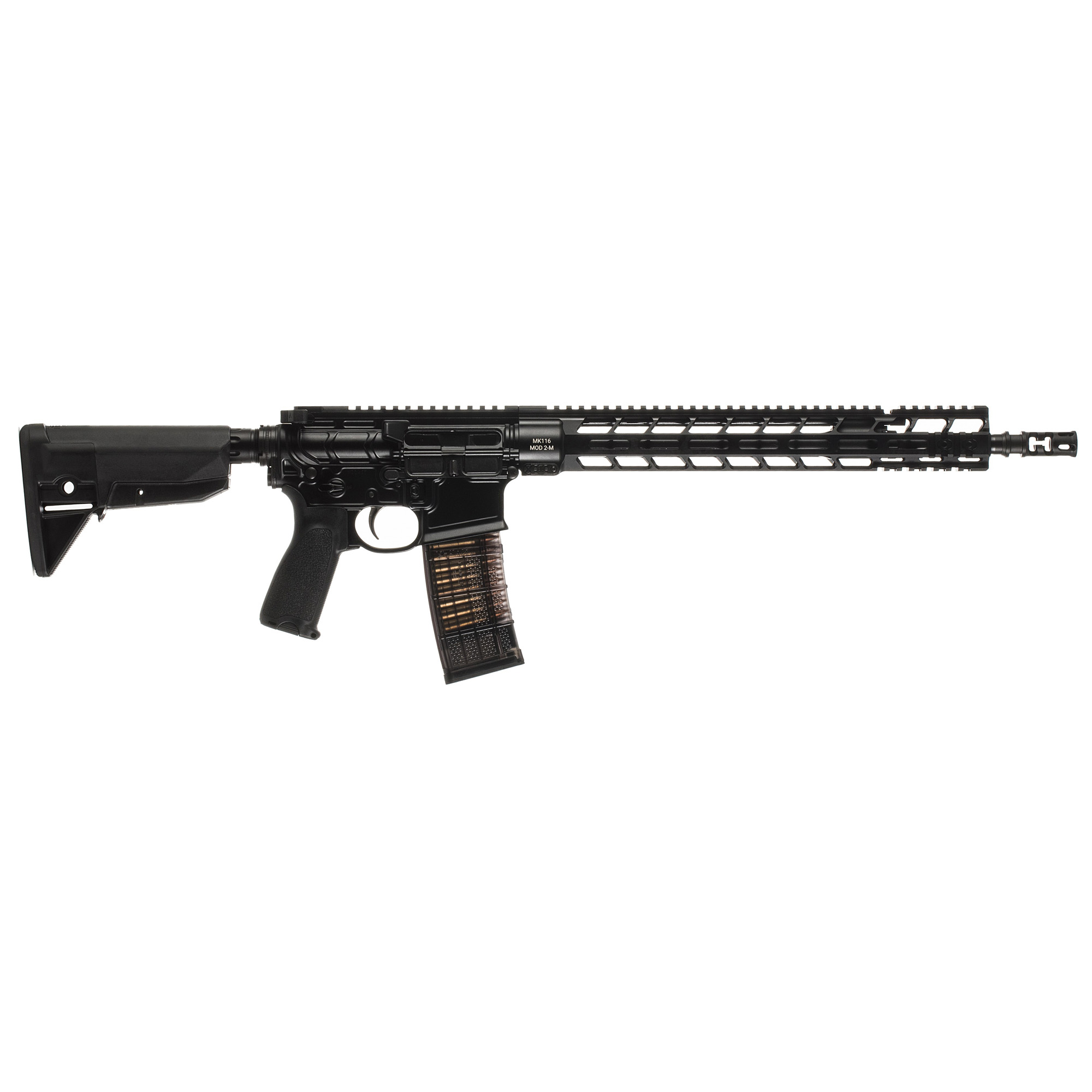 "The most popular firearm offered by PWS"" the MK116 MOD 2-M offers a well-balanced rifle for shooters looking to take 5.56 to new distances. Being deadly accurate"" the MK116 is ideal for shooters looking for a multi-purpose tool without NFA paperwork."