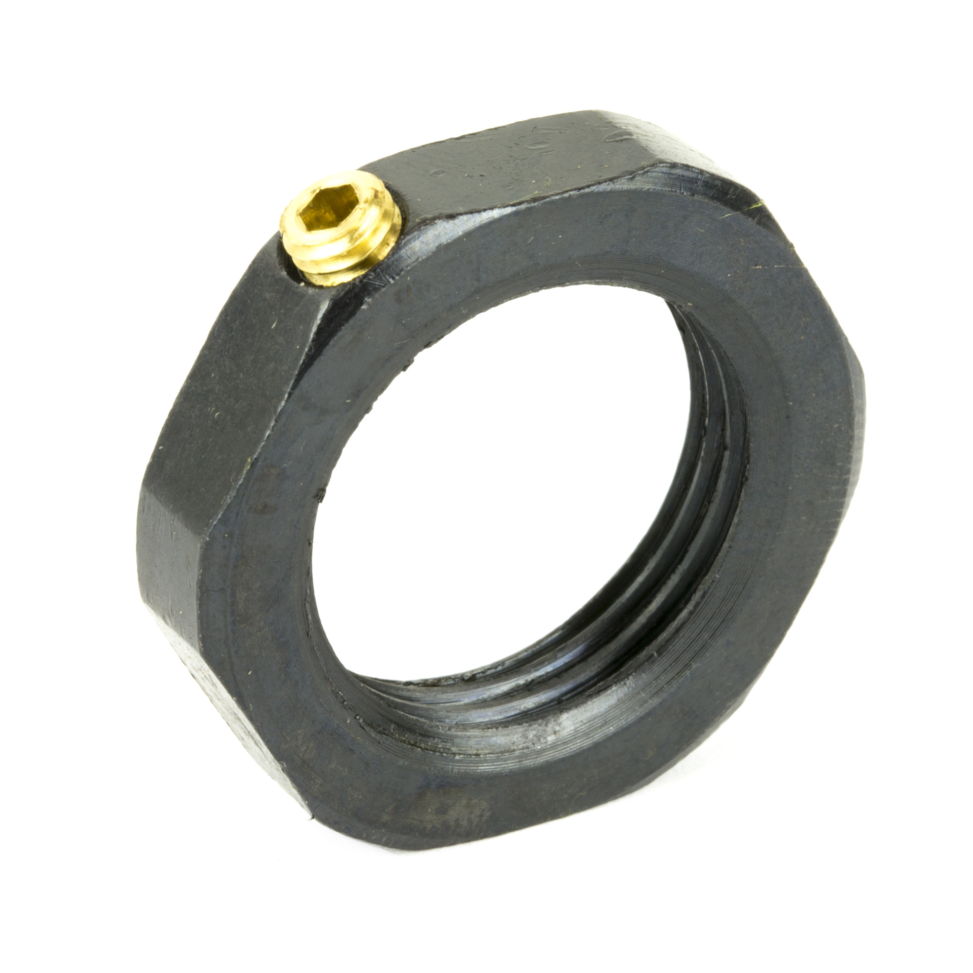 These steel locking rings allow a reloader to set up dies and lock them in place so they can be removed and replaced without having to recalibrate. They fit on standard 7/8-inch-14 threaded dies.