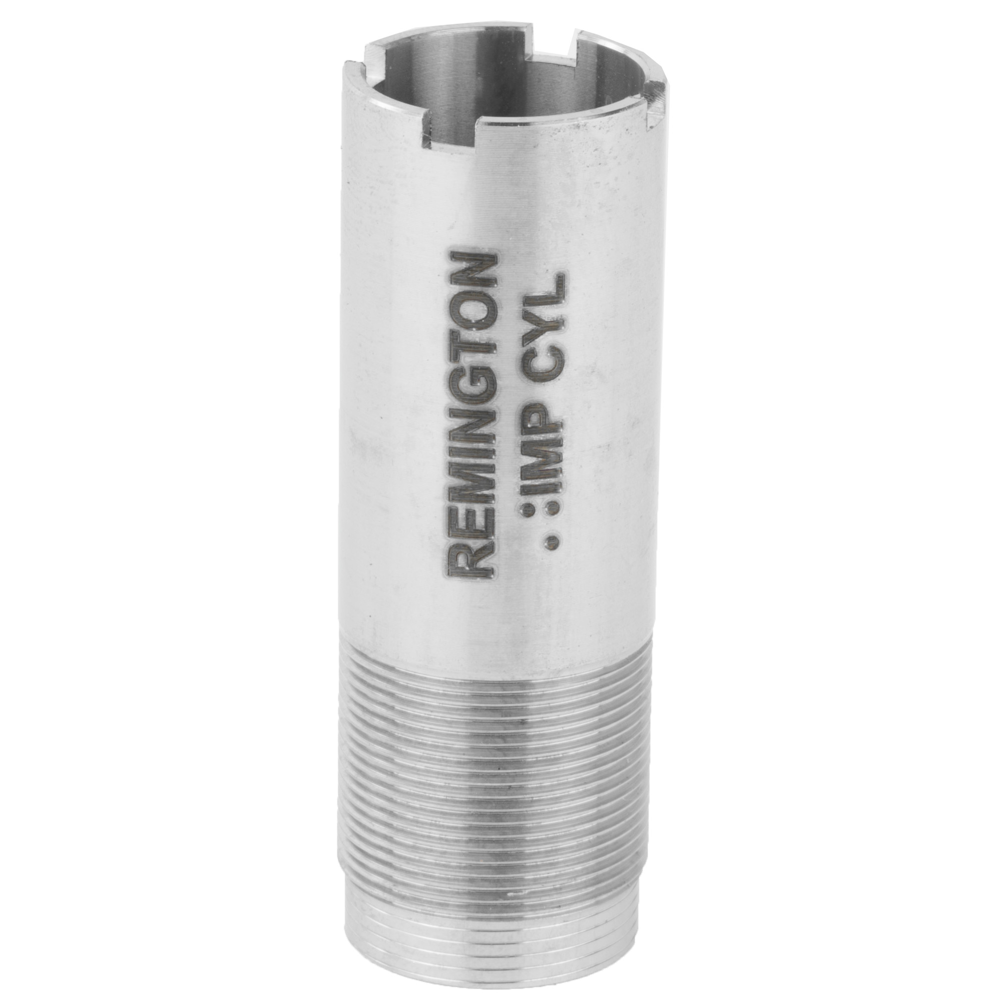 """Rem(TM) Choke 20 Ga. Improved Cylinder Flush"""" Steel or Lead. Genuine Remington Choke Tube. Remington's factory Rem Chokes are a system of interchangeable choke tubes and extended chokes that allow you to quickly and easily change the choke of your shotgun to match specific hunting conditions. Performance tuned for all Remington shotguns in field and target constrictions for optimal pattern performance."""