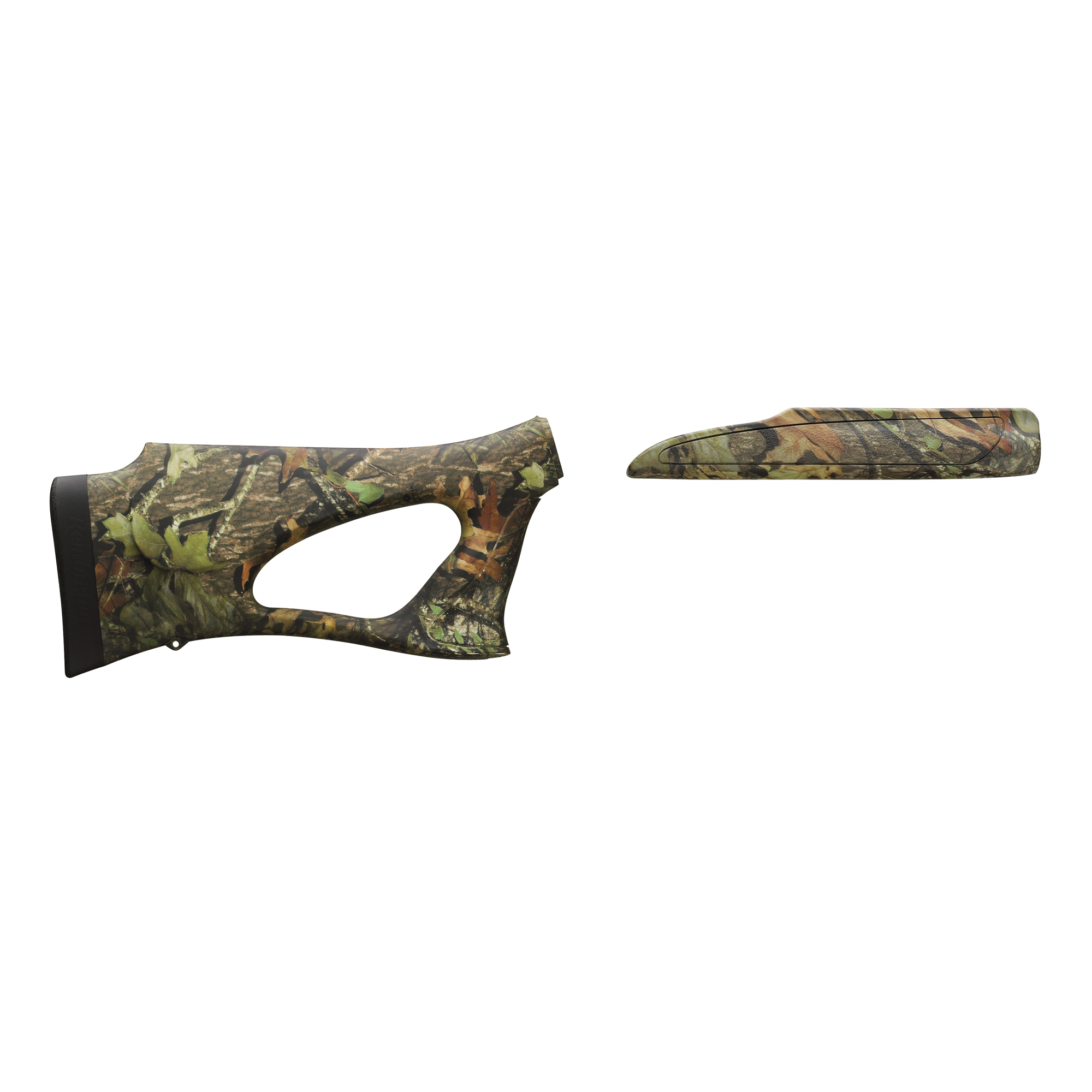 """Combining the best of thumbhole and pistol grip designs"""" the new Remington 870 12-Gauge Shurshot Thumbhole Stock and Forend affords right and left handed shooters equally astounding levels of shooting comfort and rock steady aim. The natural"""" ergonomic pistol grip optimizes point ability and works in conjunction with the revolutionary new Supercell recoil pad to cancel felt recoil for more accurate first shots and faster follow ups. It's an ultra-lightweight design and the comb is specially contoured for rapid eye alignment with your sights or scope."""