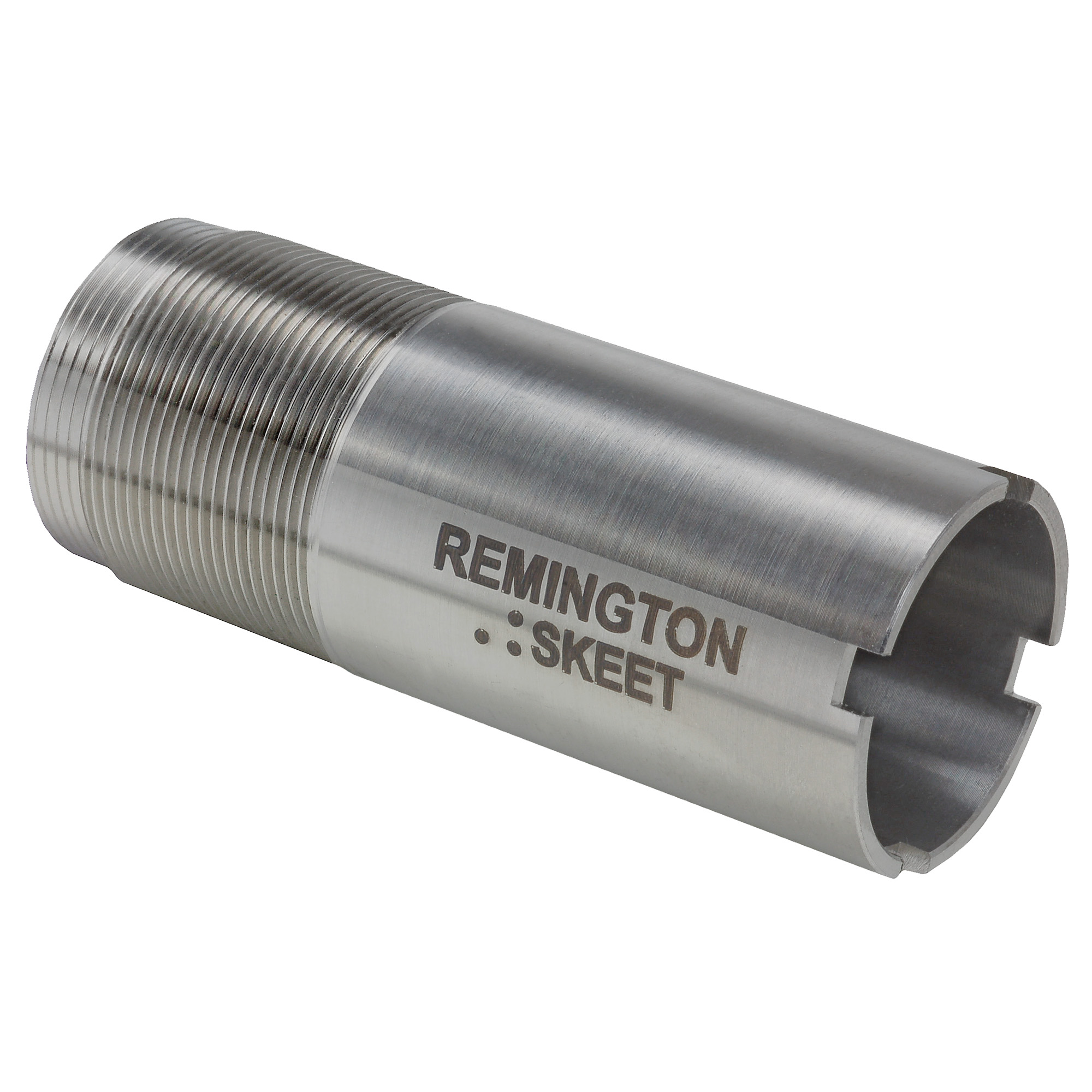 """Rem(TM) Choke 12 Ga. Skeet Flush"""" Steel or Lead. Remington's factory Rem Chokes are a system of interchangeable choke tubes and extended chokes that allow you to quickly and easily change the choke of your shotgun to match specific hunting conditions. Performance tuned for all Remington shotguns in field and target constrictions for optimal pattern performance."""