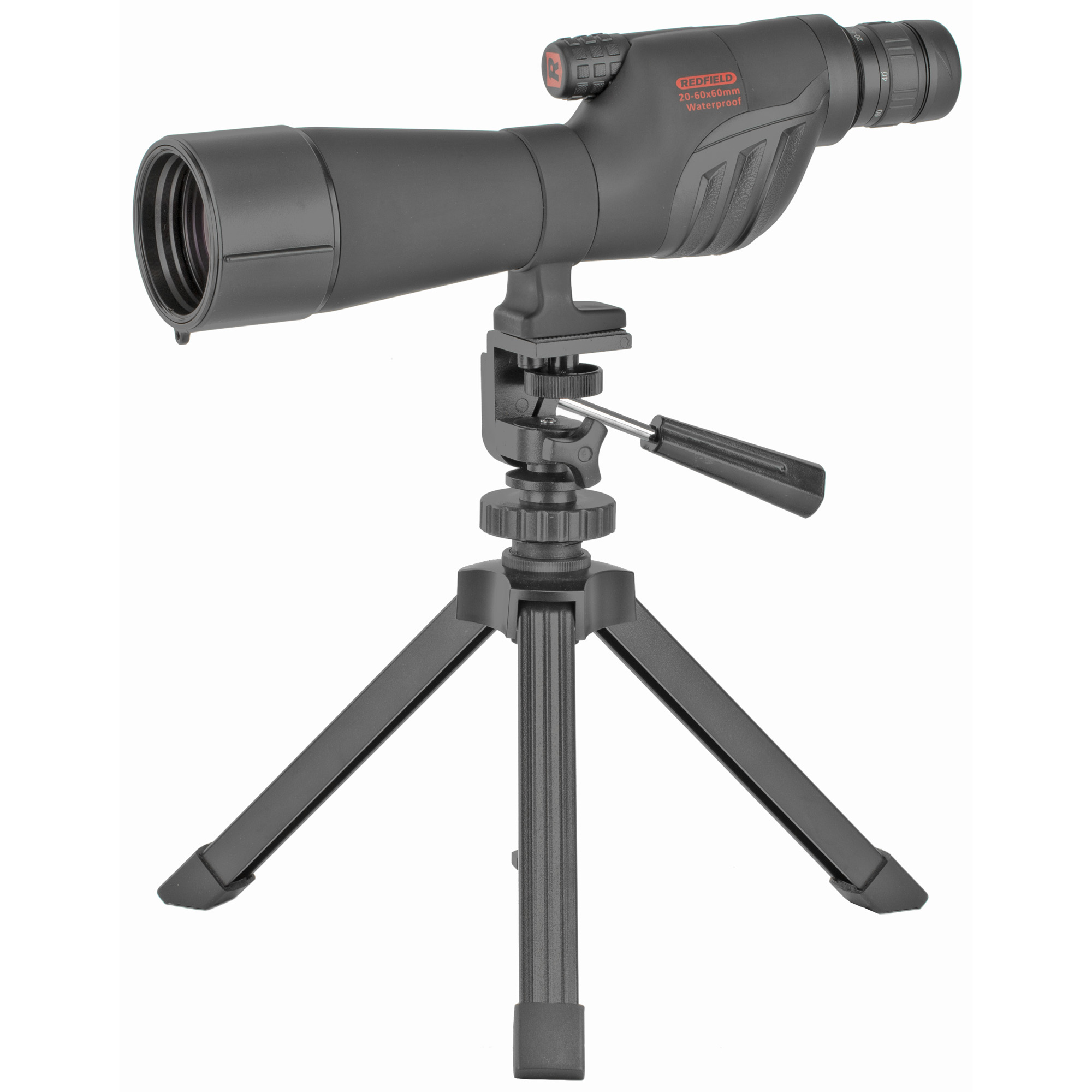 """Rampage(R) is a full-sized"""" fully featured spotting scope that opens up a world of possibilities with a price tag that anyone can afford. Bright"""" clear optics and rugged Redfield dependability make it the perfect choice for observation"""" at the range or on the hunt."""