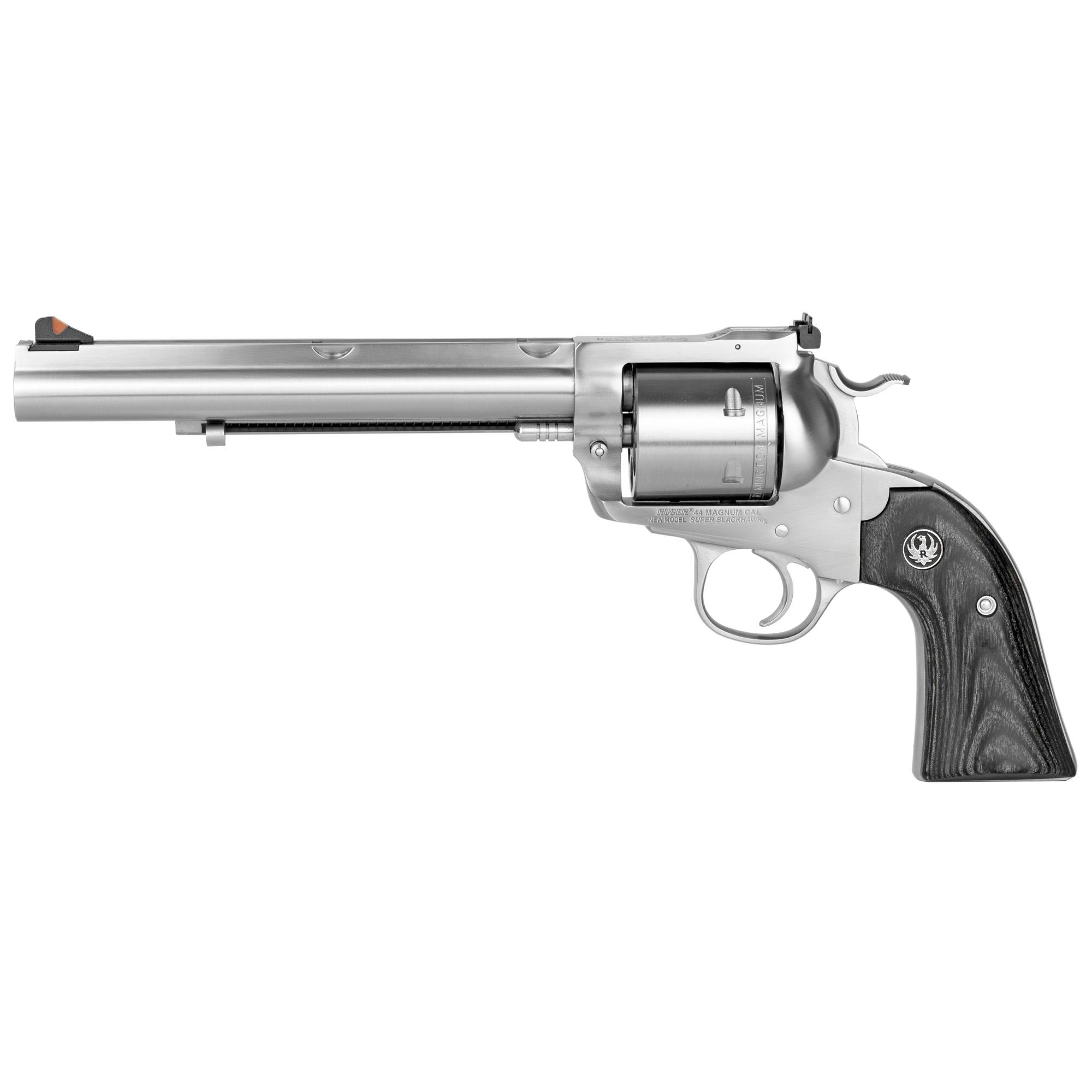 Ruger Super Blackhawk Bisley Single Action 7.5″ 44 Magnum 6Rd Adjustable Rear Sight & Ramp Front Sight – Satin