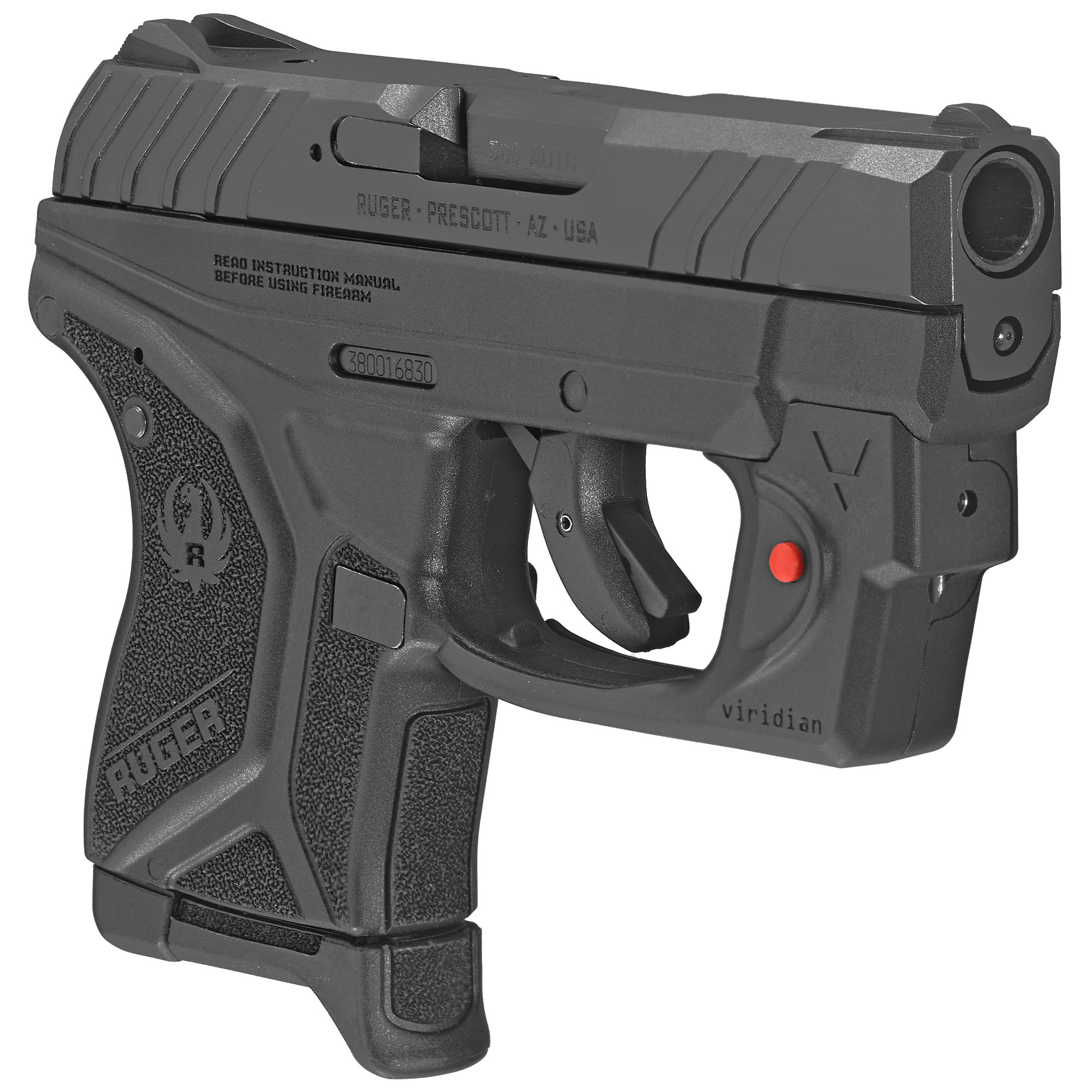 """The Ruger LCP II is the Best-In-Class Lightweight Compact Pistol. At just 5.17"""" long and 3.71"""" tall"""" the LCP II is designed to fit a variety of holsters and provide concealed carry options. It has a short"""" crisp trigger pull with a single action feel. The textured grip frame provides a secure and comfortable grip and the larger grip frame surface provides better distribution of recoil forces. The fixed front and rear sights are integral to the slide"""" while the hammer is recessed within the slide. Safety features include bladed trigger safety; neutrally balanced sear with significant engagement and strong spring tension; and hammer catch to help prevent the hammer from contacting the firing pin unless the trigger is pulled. Includes a finger grip extension floorplate that can be added to the magazine for comfort and grip"""" a pocket holster and one 6-round magazine."""