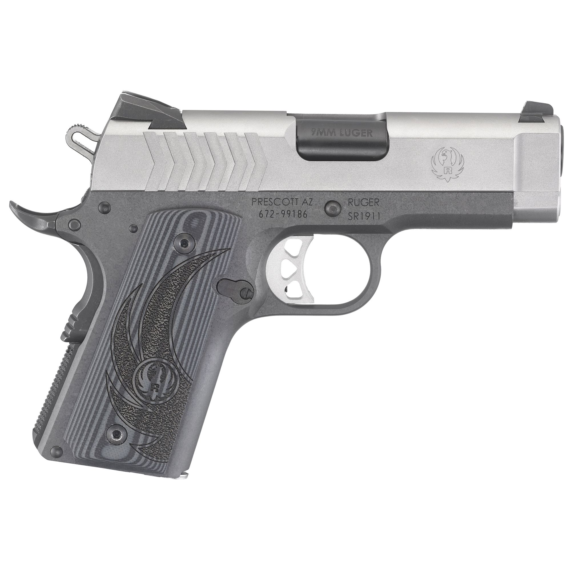 Ruger SR1911 3.6″ 9mm 8Rd 3 Dot – Duo Tone