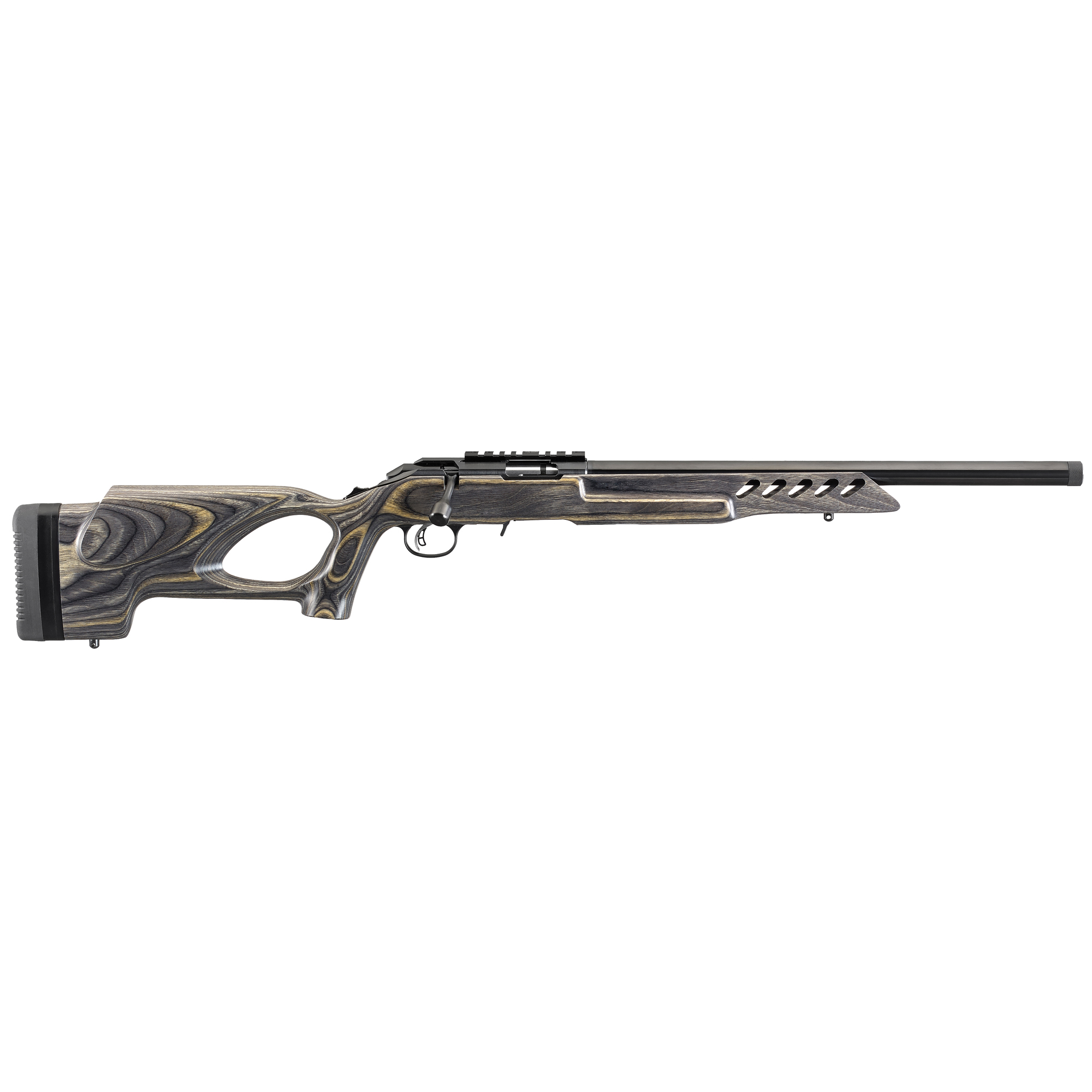 """Each Ruger American Rimfire(R) rifle includes two interchangeable stock modules that provide comb height options for scope or iron sight use (excludes wood and laminate stock models). Standard models come with long length of pull modules"""" while compact models come with short length of pull modules."""