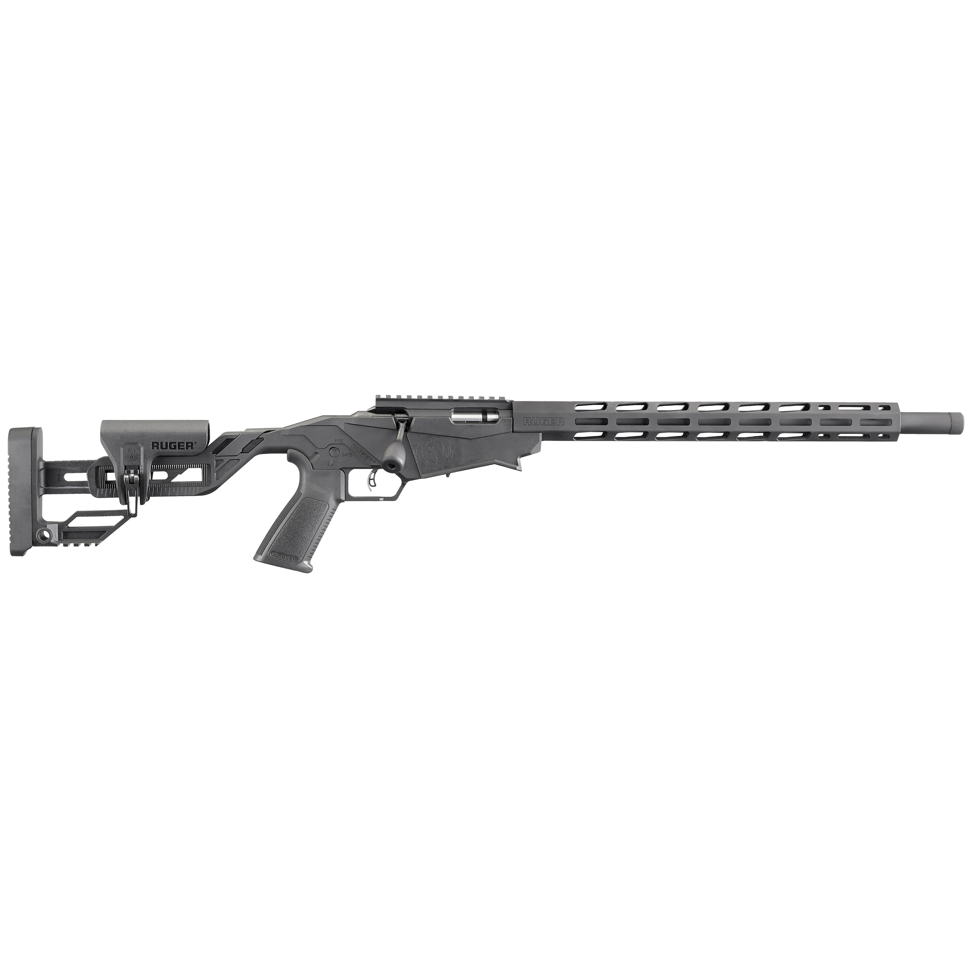 The Ruger Precision Rimfire features a Quick-Fit adjustable Precision Rimfire stock that allows length of pull and comb height to be quickly and easily adjusted.