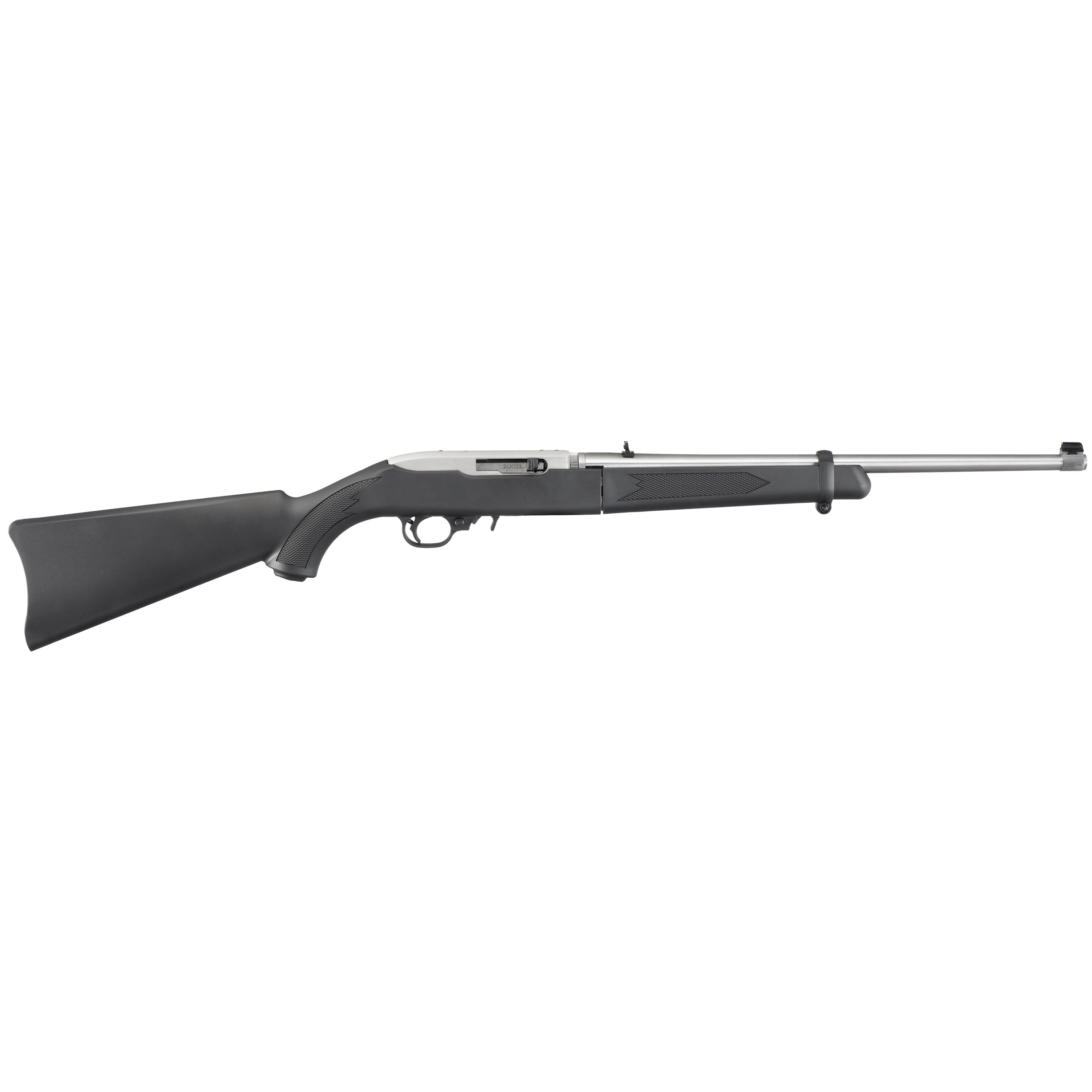 """The legendary 10/22 action"""" a tried and true Ruger design"""" ensures consistent"""" reliable performance. An Easy-to-use extended magazine release provides smooth"""" no-fuss removal of flush-mounted magazines and the Cold hammer-forged barrel is locked into the receiver by a unique"""" two-screw"""" V-block system."""