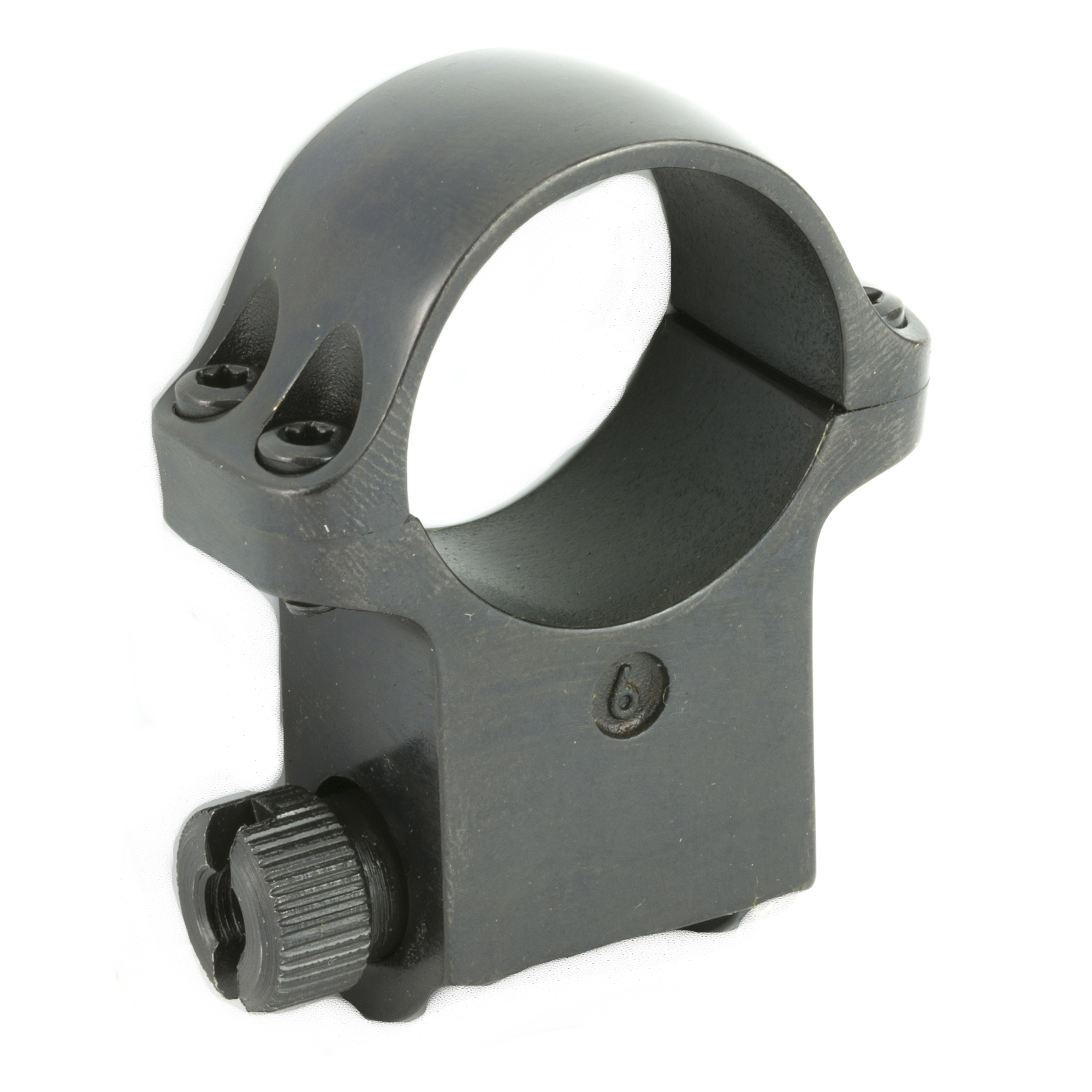 X-High Scope Ring with a Blued Finish. Designed to fit a scope with a one-inch scope tube diameter and a 62 MM objective diameter. Sold individually.