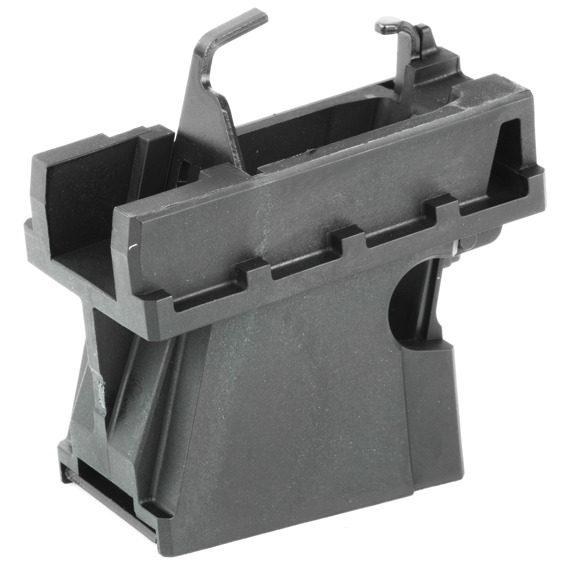 "This Magazine Well Insert Assembly is designed to work exclusively with the Ruger PC Carbine. It accepts all Ruger American Pistol 9mm magazines (90510"" 90514"" 90617 and 90618). The flush-fit design is made from rugged"" glass-filled polymer material for strength and durability."