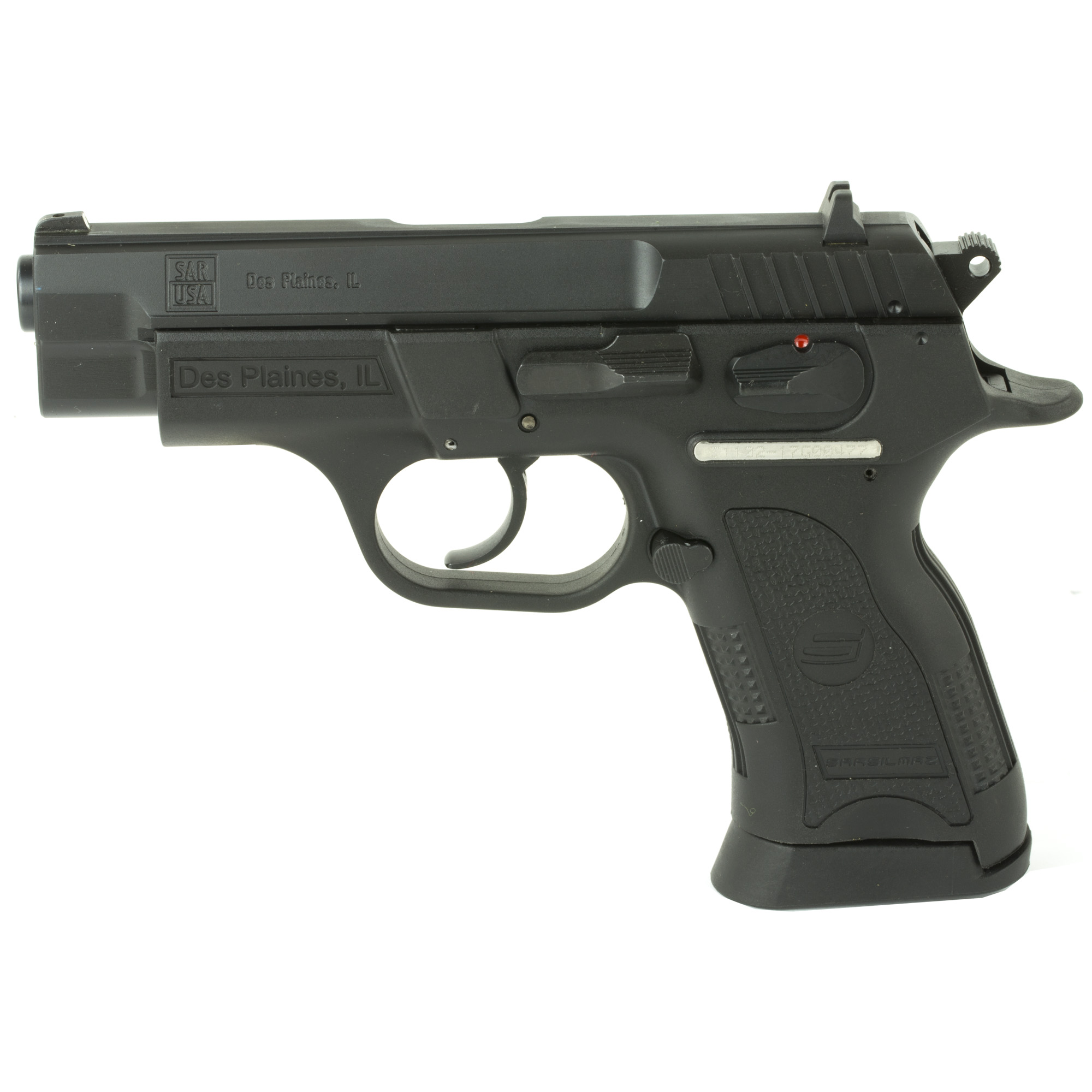 """The B6 series is truly the foundation of the SAR USA line of polymer frame pistols. Long a favorite of security and law enforcement Worldwide"""" the B6 is a no nonsense rock solid side arm of proven dependability. With an integrated grip spur and three back strap inserts to customize the ergonomic fit for the individual's hand"""" the B6 is quick pointing and comfortable. So"""" whether you're looking for a 9mm for home protection or a compact carry gun there's a value priced B6 to fit the bill."""
