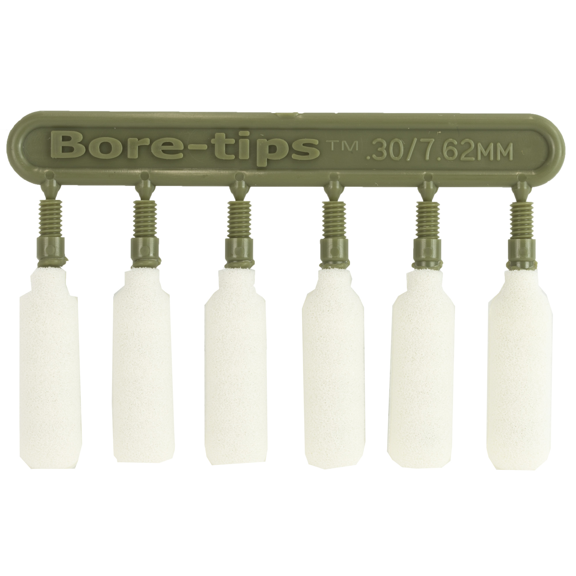 "Bore-tips are tough"" reusable foam tips engineered for 100% bore contact; spreading fluids more evenly than mops and patches without lint or fibers. Their non-abrasive foam allows them to be run in both directions"" while their absorbency requires less solvent/lubricant."
