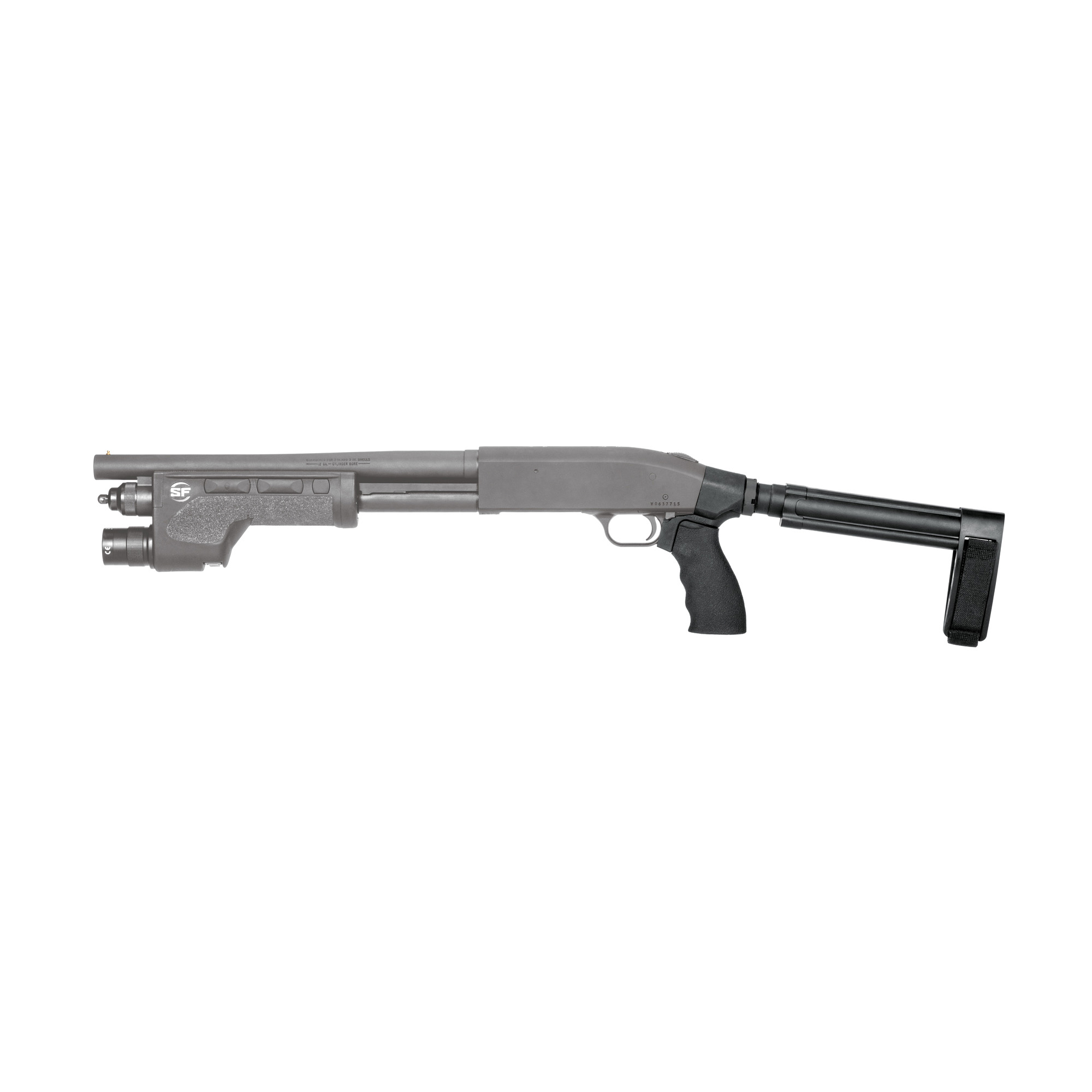 """This SB Tactical Stabilizing Brace Kit for the Mossberg 590 is ready to assemble on your Mossberg 590 Shockwave. It will greatly enhance the usability of the firearm by adding a third point of contact for stabilization. Kit includes SBL pistol stabilizing brace"""" STDT pistol receiver extension; ERGO flat top Suregrip"""" ERGO Mossberg 590 adapter"""" castle nut and adjustable nylon strap."""