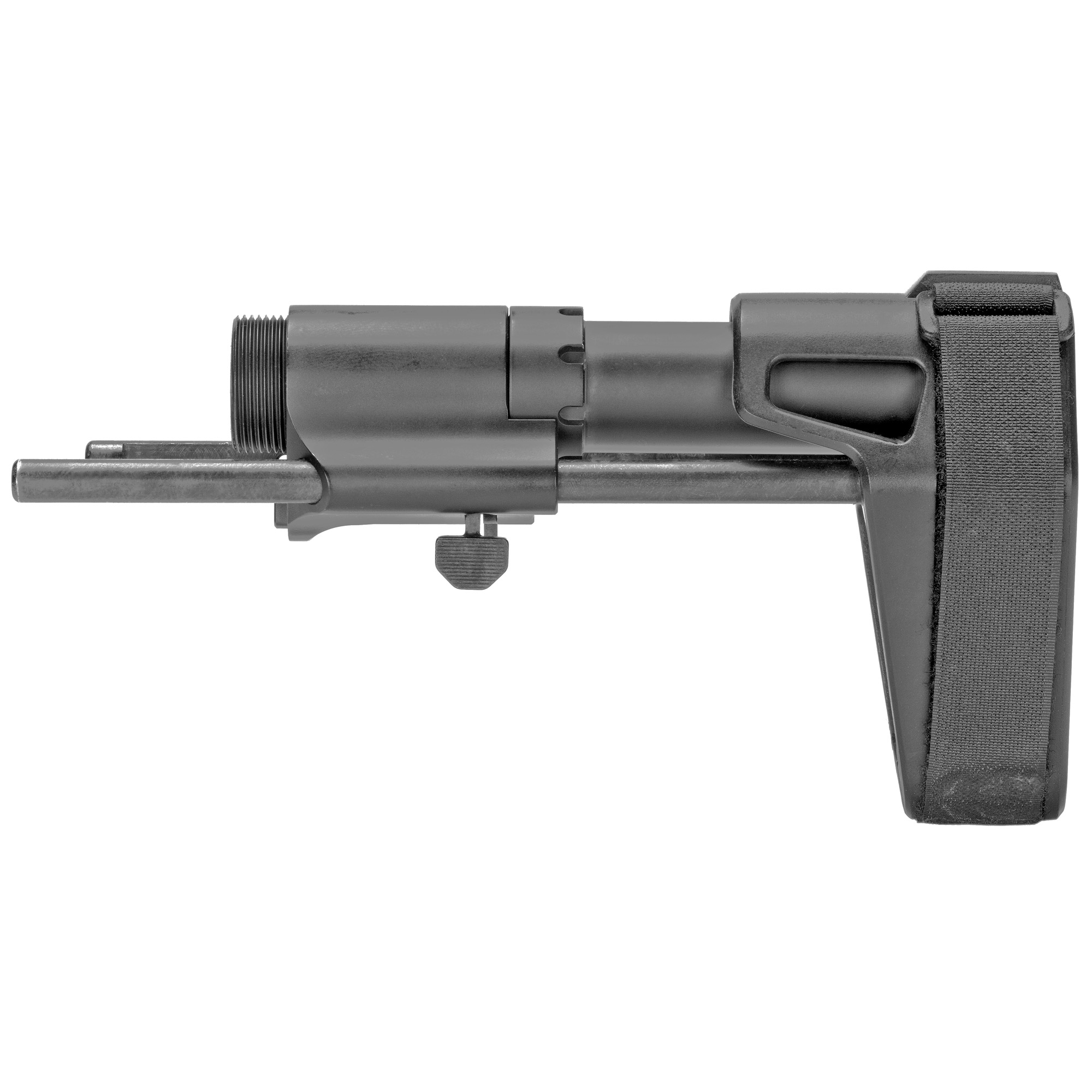SB Tactical AR Pistol PDW Stabilizing Brace was designed in conjunction with Maxim Defense. It is three position adjustable and compatible with mil-spec bolt carrier groups and carbine buffers. Fits AR-15.