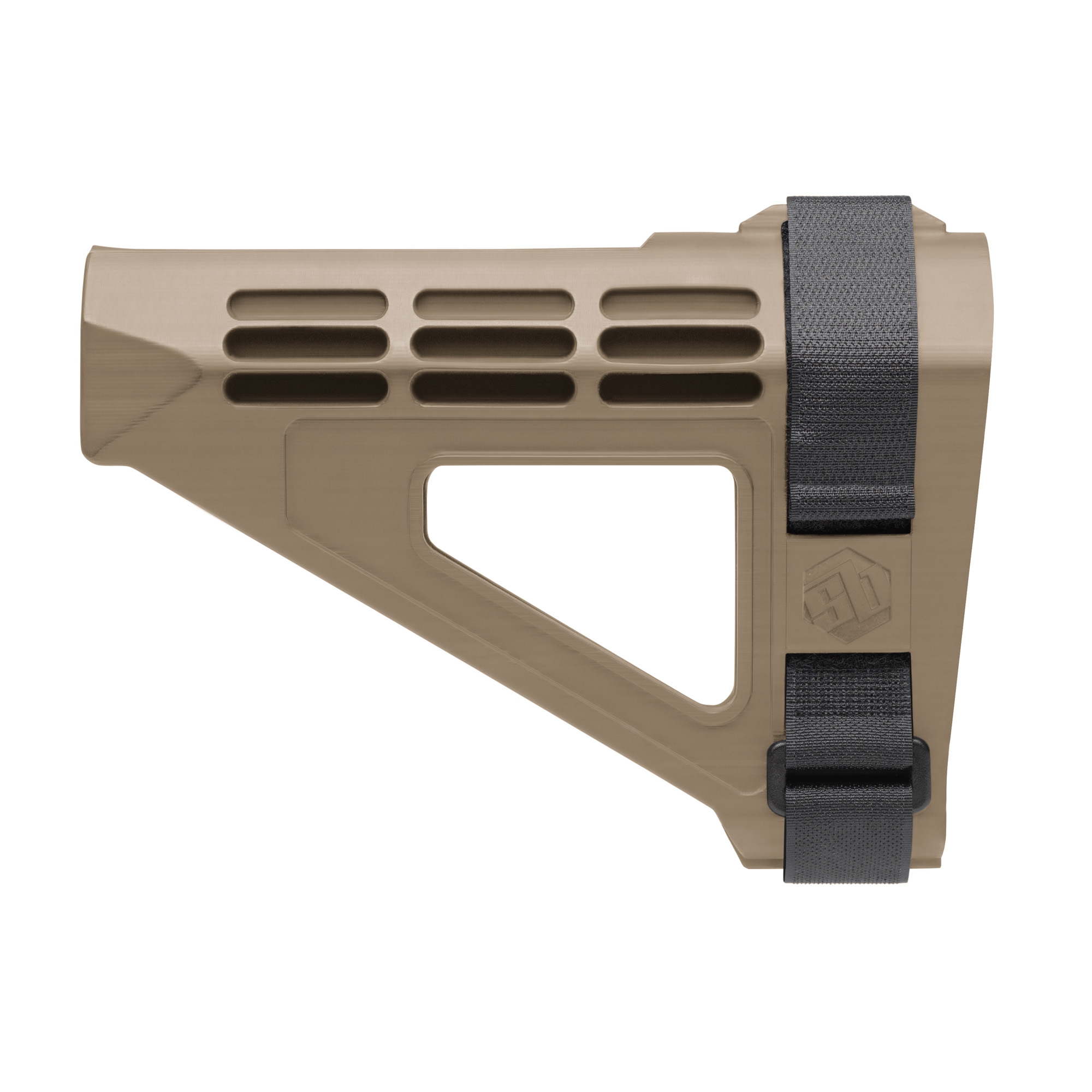 """The SBM4 Pistol Stabilizing Brace(R) is the evolution of the original SB15(TM). Thinner"""" lighter and with enhanced cheek weld ergonomics. The SBM4 provides increased stability"""" improved accuracy and usability. US veteran designed and proudly made in the USA."""