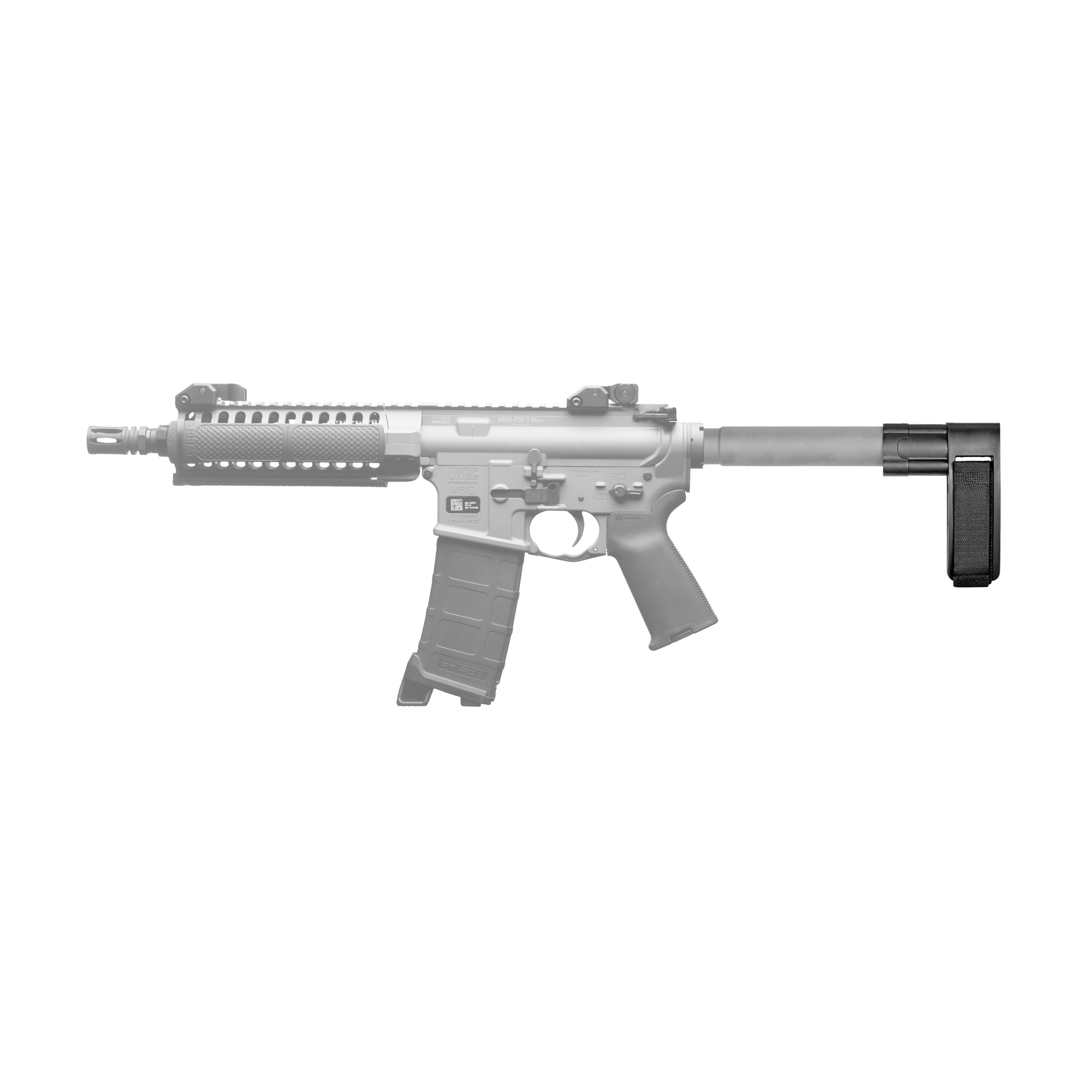 """The SB-MINI is the lightest"""" minimalist interpretation of the Pistol Stabilizing Brace. When weight and total footprint are a consideration"""" the SB-MINI is the solution. Fits AR rifles."""