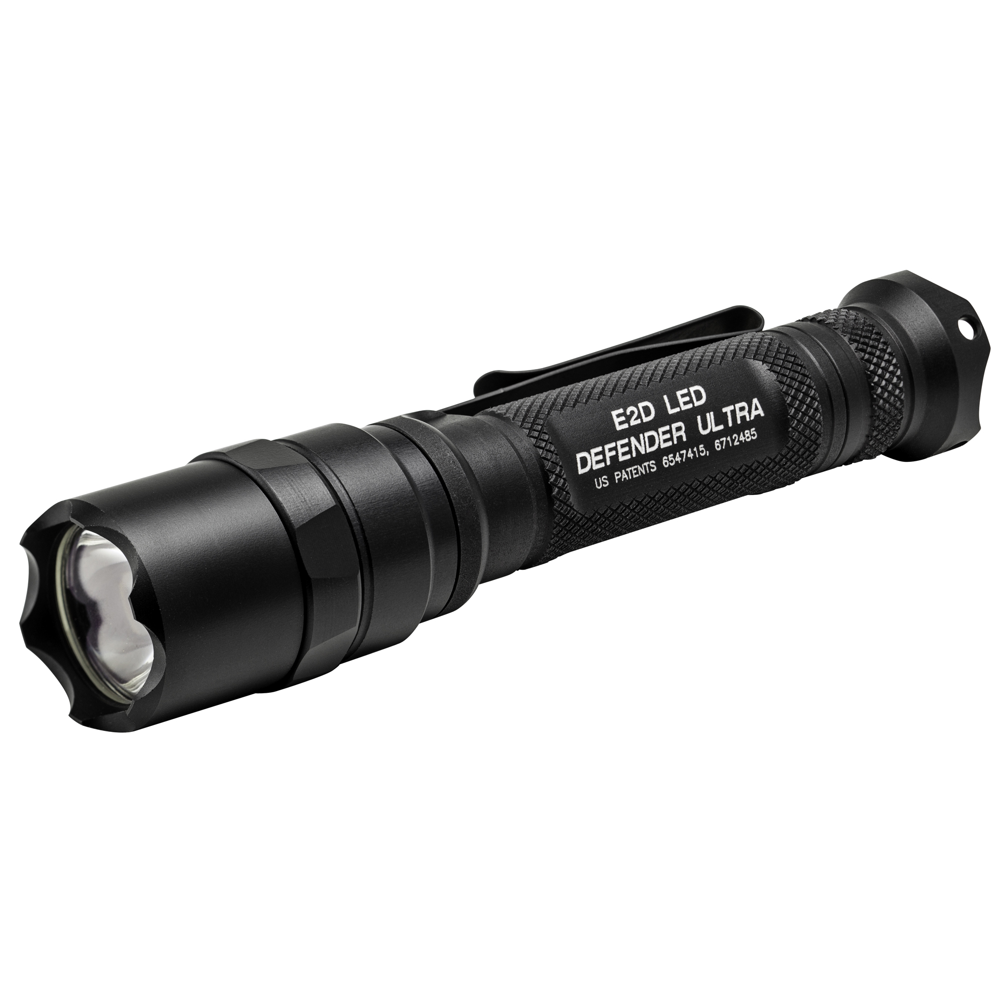 """SureFire has developed the superlative everyday-carry tactical light. The Defender lives up to its name in more ways than one. Machined from aerospace aluminum"""" its crenellated Strike Bezel(R) and scalloped tail cap turn this robust illumination tool into a potential impact weapon"""" so it can take a beating-or give one if necessary. The Defender body also features a Type III Mil-Spec hard-anodized coating for abrasion and corrosion resistance in foul weather or other adverse environments. A bolstered dual-function pocket clip makes bezel-up or bezel-down pocket storage easy too. The dual-output E2D Defender Ultra (E2DLU-A) utilizes SureFire's virtually indestructible high-performance LED. The very heart of these slender and powerful lights"""" it pumps out an intense"""" 1""""000-lumen beam"""" precisely focused through our optimized Total Internal Reflection (TIR) lens. That's plenty of output to momentarily disorient virtually any adversary and gain a crucial tactical advantage. The Ultra adds the extra value of dual-output capability. Clicking its tail cap twice yields a battery-saving 5 lumens"""" ideal for the most basic low-light tasks such as map reading and other close-range applications. And with a continuous low-output run time of 63 hours"""" you can trust the Ultra to keep you company from sunset to sunrise."""