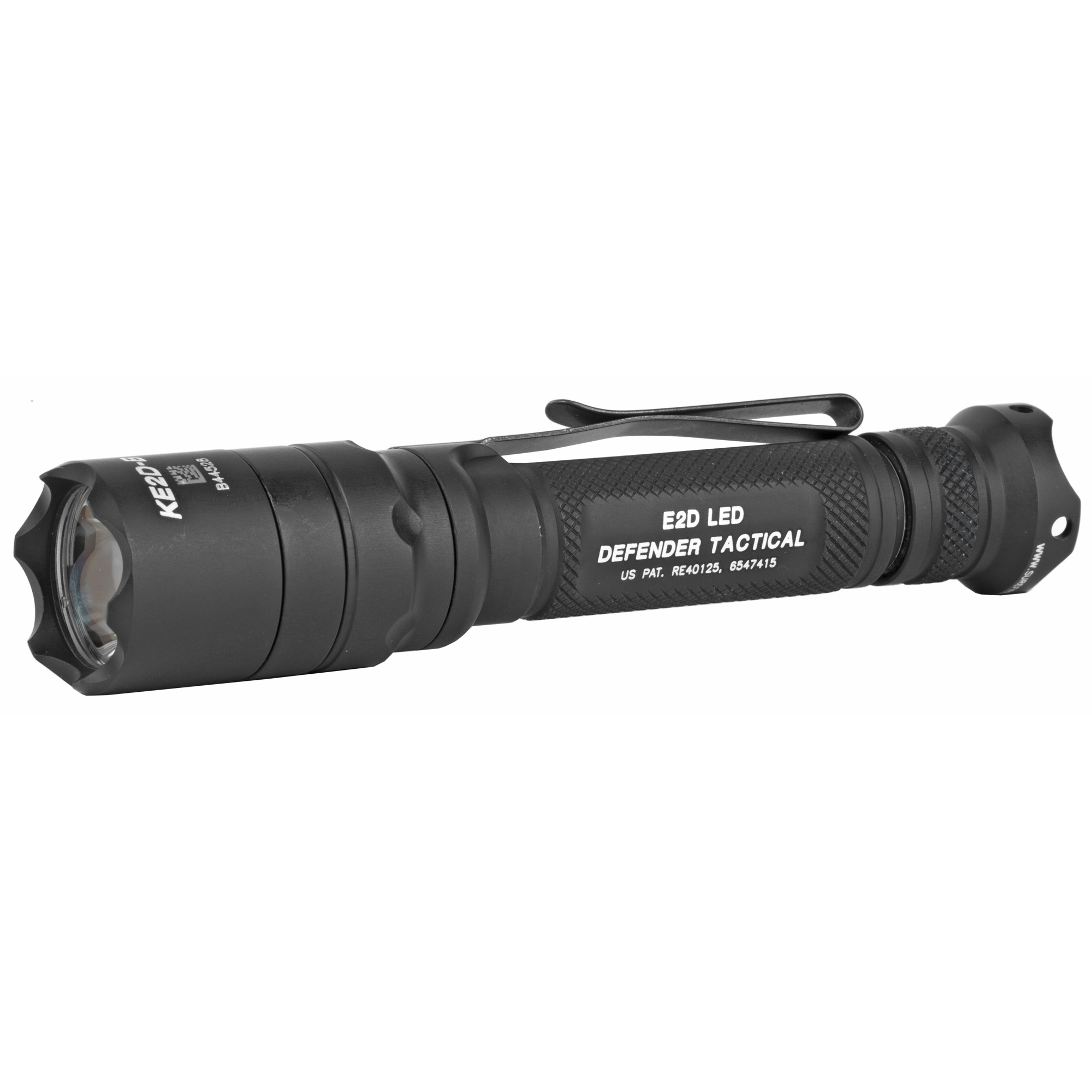 """SureFire has developed the superlative everyday-carry tactical light. The Defender lives up to its name in more ways than one. Machined from aerospace aluminum"""" its crenellated Strike Bezel(R) and scalloped tail cap turn this robust illumination tool into a potential impact weapon"""" so it can take a beating-or give one if necessary. The Defender body also features a Type III Mil-Spec hard-anodized coating for abrasion and corrosion resistance in foul weather or other adverse environments. A bolstered dual-function pocket clip makes bezel-up or bezel-down pocket storage easy too. The E2D Defender Tactical (E2DLU-T) utilizes SureFire's virtually indestructible high-performance LED. The very heart of these slender and powerful lights"""" it pumps out an intense"""" 1""""000-lumen beam"""" precisely focused through our optimized Total Internal Reflection (TIR) lens. That's plenty of output to momentarily disorient virtually any adversary and gain a crucial tactical advantage. The Ultra adds the extra value of dual-output capability. Clicking its tail cap twice yields a battery-saving 5 lumens"""" ideal for the most basic low-light tasks such as map reading and other close-range applications. And with a continuous low-output run time of 63 hours"""" you can trust the Ultra to keep you company from sunset to sunrise."""