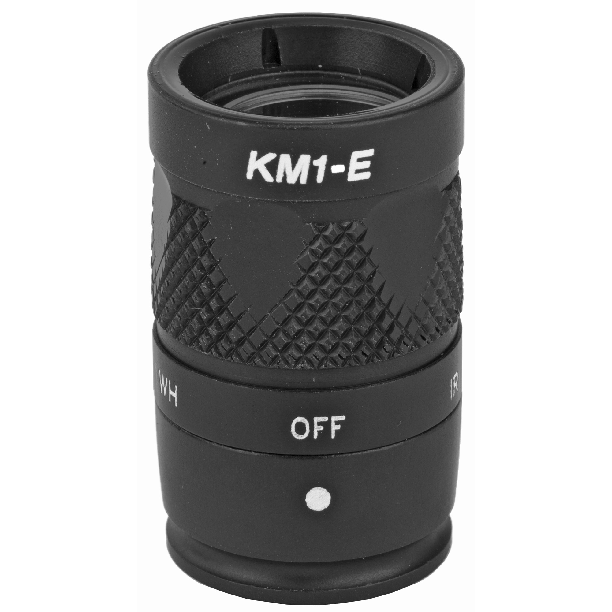 """The KM1 bezel assembly provides both white light and infrared illumination from a single 123A battery when used on an M300 Scout Light(R). Select the appropriate spectrum for the mission by simply rotating the bezel. This small"""" rugged Weapon Light features SureFire's proprietary TIR lens"""" a far-reaching"""" high-intensity beam with ample surround light. Constructed of lightweight aerospace aluminum coated with a Mil-Spec Hard Anodized finish"""" the ultra-compact KM1 will withstand the rigors of combat without weighing down your weapon. Upgrade your Mini Scout Light(R) to 250 lumens and 100 mW of infrared illumination with the KM1."""