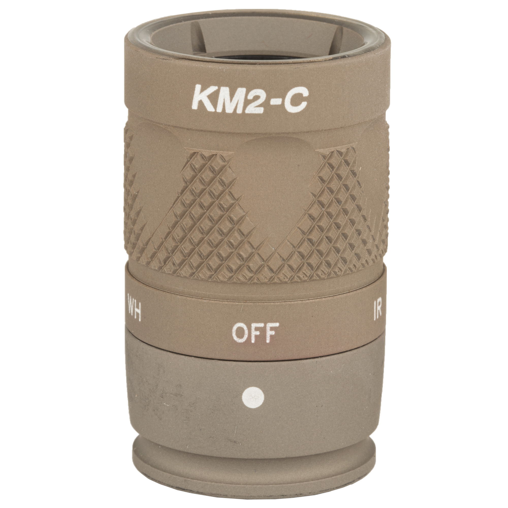 """The KM2 bezel assembly provides both white light and infrared illumination from two 123A batteries when used on an M600 Scout Light(R). Select the appropriate spectrum for the mission by simply rotating the bezel. This small"""" rugged Weapon Light features SureFire's proprietary TIR lens"""" a far-reaching"""" high-intensity beam with ample surround light. Upgrade your Scout Light(R) to 350 lumens and 120 mW of infrared illumination with the KM2."""