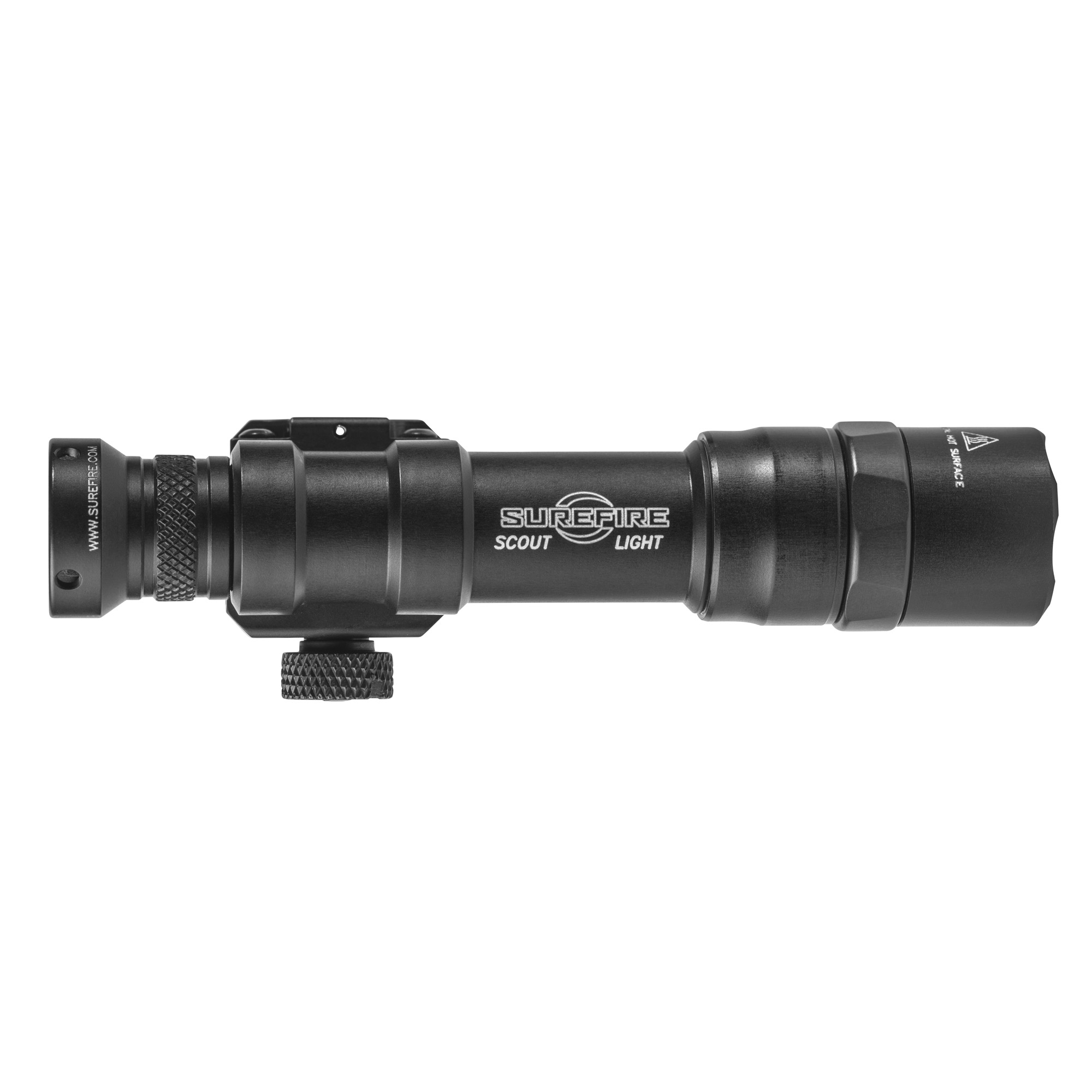 """The M600DF Ultra Scout Light is a lightweight"""" compact Weapon Light featuring an ultra-high-output LED that delivers 1""""200 lumens of blinding white light with 123A batteries and 1""""500 lumens of light with the SF18650B MICRO-USB rechargeable lithium-ion battery. A proprietary Total Internal Reflection (TIR) lens shapes the recoil-proof LED's light into a beam with plenty of reach but enough surround light to accommodate peripheral vision"""" making the M600DF ideal for medium to longer-range applications. The rugged M600DF attaches quickly and securely to any MIL-STD-1913 rail via its integral thumbscrew clamp. A slight press of the Z68 tail cap switch will activate the momentary-on"""" while fully depressing the tail cap until it clicks will activate constant-on. Constructed of lightweight aerospace aluminum"""" with a Mil-Spec Hard Anodized finish"""" and O-ring sealed to keep out the elements"""" the tough M600DF will endure combat-like conditions without any sacrifice in weapon maneuverability."""