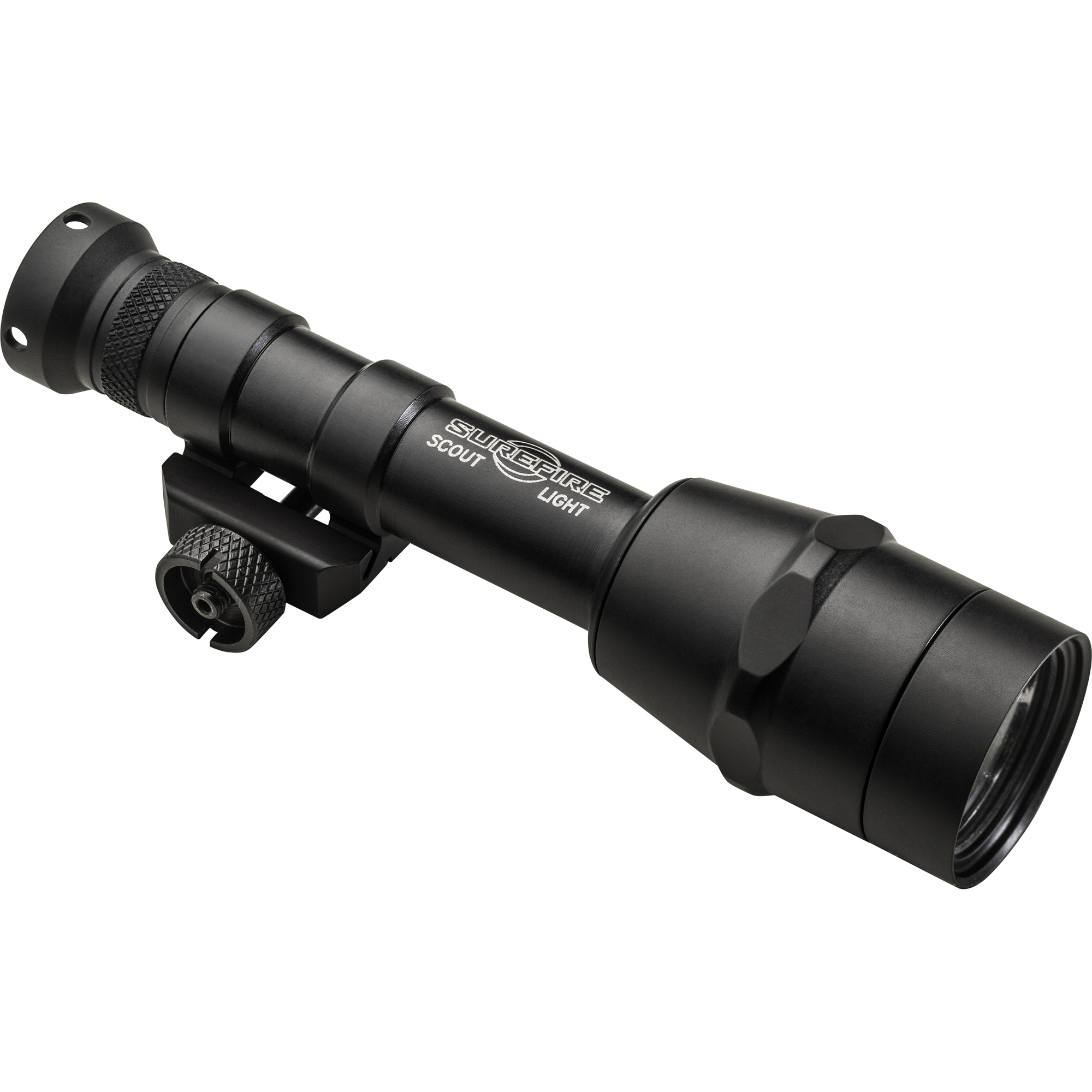 """The revolutionary SureFire M600IB is the most sophisticated"""" most innovative member of our best-selling Scout Light Family. It utilizes SureFire's proprietary IntelliBeam(TM) Technology-an intelligent sensor and microprocessor-based system that continuously evaluates the environment where the beam is aimed-to automatically adjust the light output to the optimal level"""" between 100 and 600 lumens"""" faster than the human eye can detect. So you always get just the right amount of light for the task at hand"""" based on your surroundings! Its high-performance LED and parabolic reflector create a smooth"""" highly useful beam with far-reaching center and significant surround light for maintaining situational awareness no matter to which output level the M600IB's beam is automatically set. Simply press the tail cap click switch for momentary light activation or click the switch for constant-on mode-optional remote switching is also available. Like all Scout Light models"""" the M600IB is constructed of Mil-Spec hard-anodized aluminum and O-ring and gasket sealed"""" so it can take most anything you can dish out. At less than six inches long and just over six ounces in weight"""" it won't eat up a lot of rail space or weigh down your weapon"""" either. It attaches quickly and securely via its thumbscrew mount to any MIL-STD 1913 rail. For cutting-edge technology that delivers just the right amount of light"""" and Scout Light reliability that won't let you down"""" there's no beating the M600IB!"""