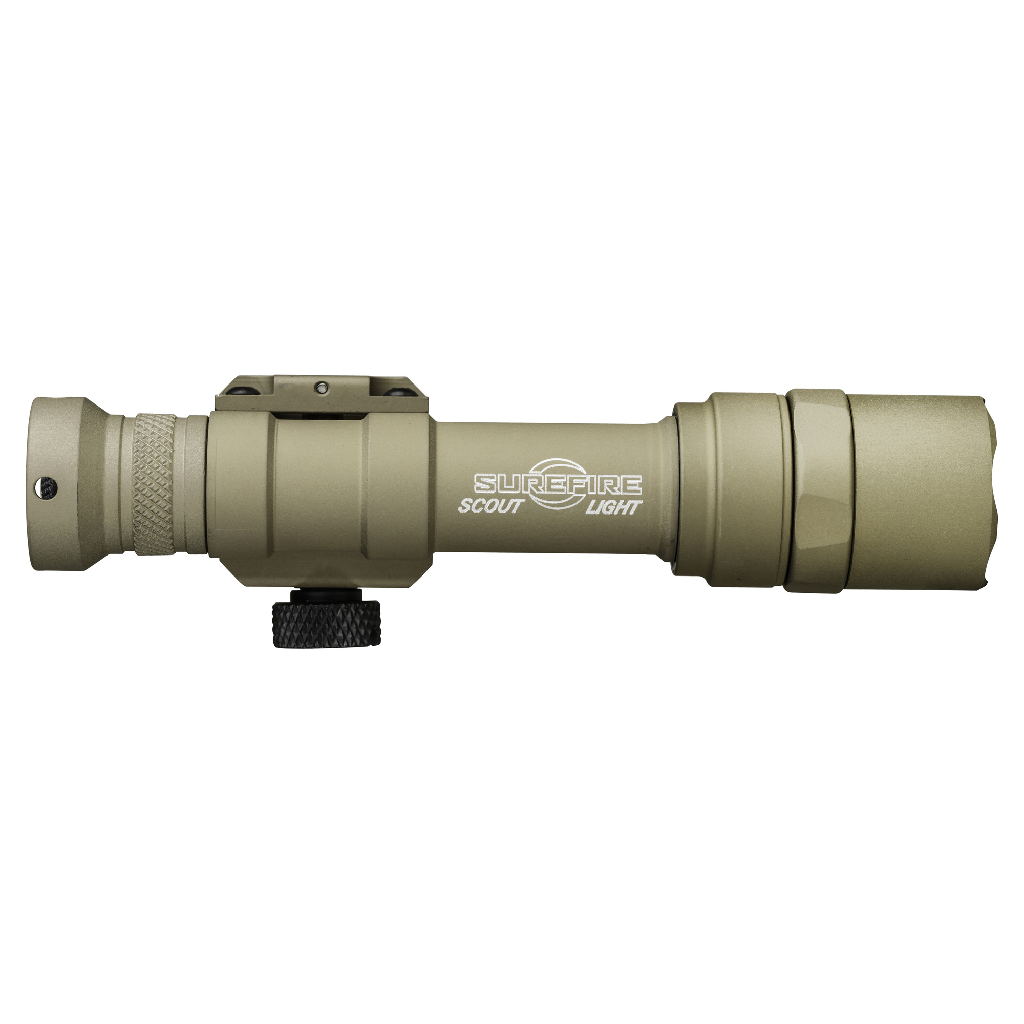 """The M600U Scout Light is a lightweight Weapon Light featuring an ultra-high-output LED that delivers 1000 lumens of blinding white light. A proprietary TIR lens shapes the recoil-proof LED's light into a beam with plenty of reach but enough surround light to accommodate peripheral vision"""" making the M600U ideal for medium to longer-range applications. The rugged M600U attaches quickly and securely to any MIL-STD-1913 rail via its integral thumbscrew clamp. The light is activated by either clicking its pushbutton tail cap switch or by pressing the pressure-activated tape switch on select models. Constructed of lightweight aerospace aluminum"""" Mil-Spec Hard Anodized finish"""" and O-ring sealed to keep out the elements"""" the tough M600U will endure combat-like conditions without any sacrifice in weapon maneuverability."""