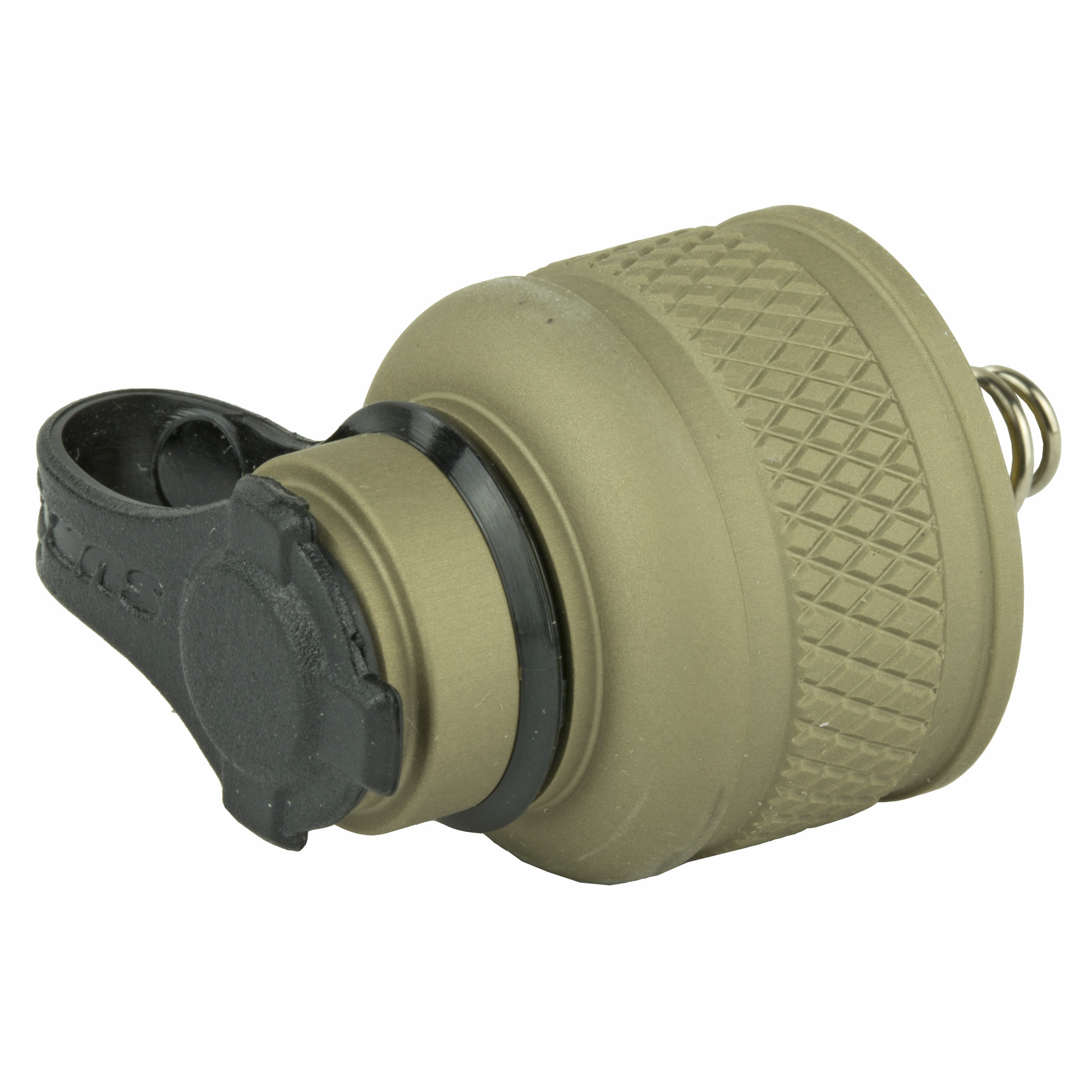 """Replace your Scout Light's rear push-button cap assembly with this cap in order to attach a SureFire tape switch. Lock-out feature positively prevents activation during tactical operations"""" transportation"""" or storage. Made from aerospace aluminum"""" MilSpec Type III hard-anodized. Available in Black or Desert Tan. Fits: Scout Light Weapon Lights; Flashlights with .75"""" diameter switch"""" including"""" E1E-HA"""" E1B"""" E1L-HA-WH"""" E2D-BK"""" E2DL-BK"""" E2L-HA-WH"""" L4-HA-WH"""