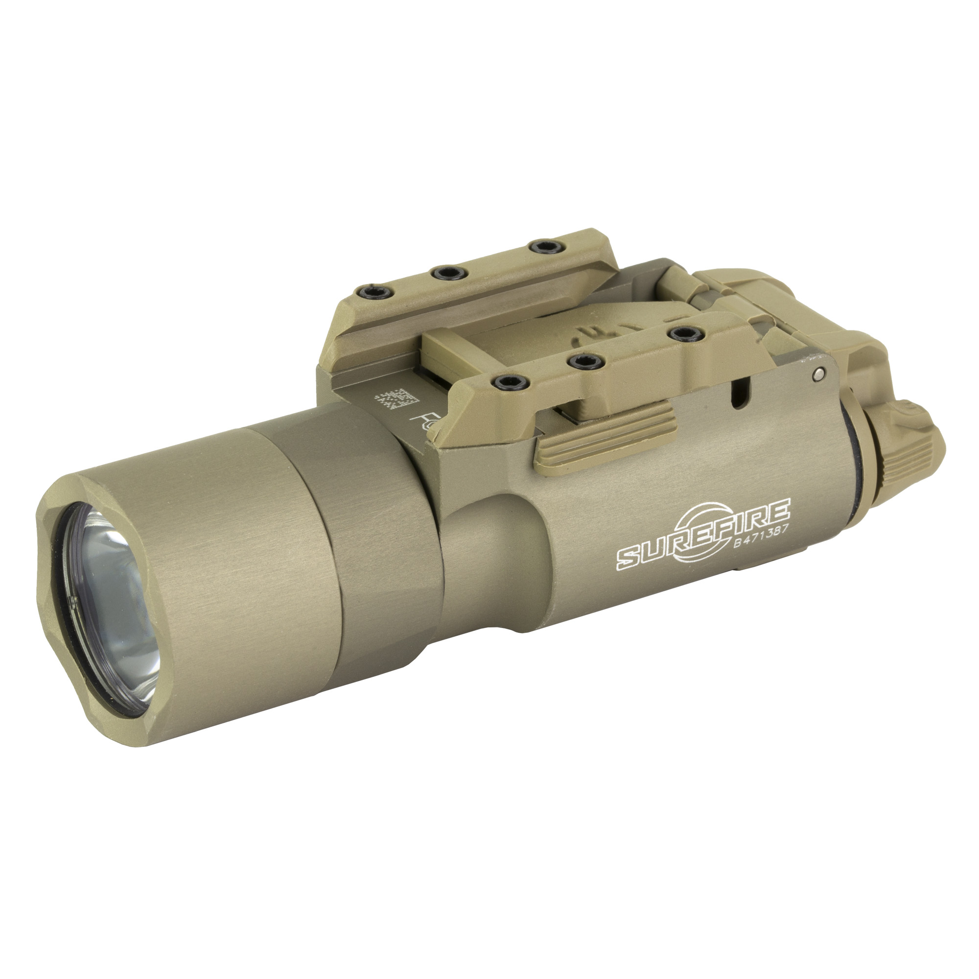 """This enhanced version of our best-selling SureFire X300 Ultra now delivers a stunning 1""""000 lumens of LED-generated output focused by a precision TIR lens"""" creating a far-reaching high intensity beam - with a larger center spot - that offers the power to positively identify threats at significant distances while temporarily impairing an adversary's vision. This intense beam also provides extensive peripheral illumination for maintaining situational awareness. Activating the X300 Ultra is done via ambidextrous switching located at the rear of body"""" providing one-finger control - press the switch on either side for momentary-on activation"""" flip up or down for constant-on activation. Optional DG grip switches (for pistols) and a pressure activated XT07 tape switch (for long guns) permit the X300 Ultra to be activated without altering your grip on your weapon. The X300 Ultra can be attached to a pistol or a long gun since its Rail-Lock(R) system permits rapid attachment to and removal from either Universal or Picatinny rails. Its high-strength aerospace aluminum body is Mil-Spec Hard Anodized for superior toughness and is O-ring and gasket sealed to make it weatherproof."""