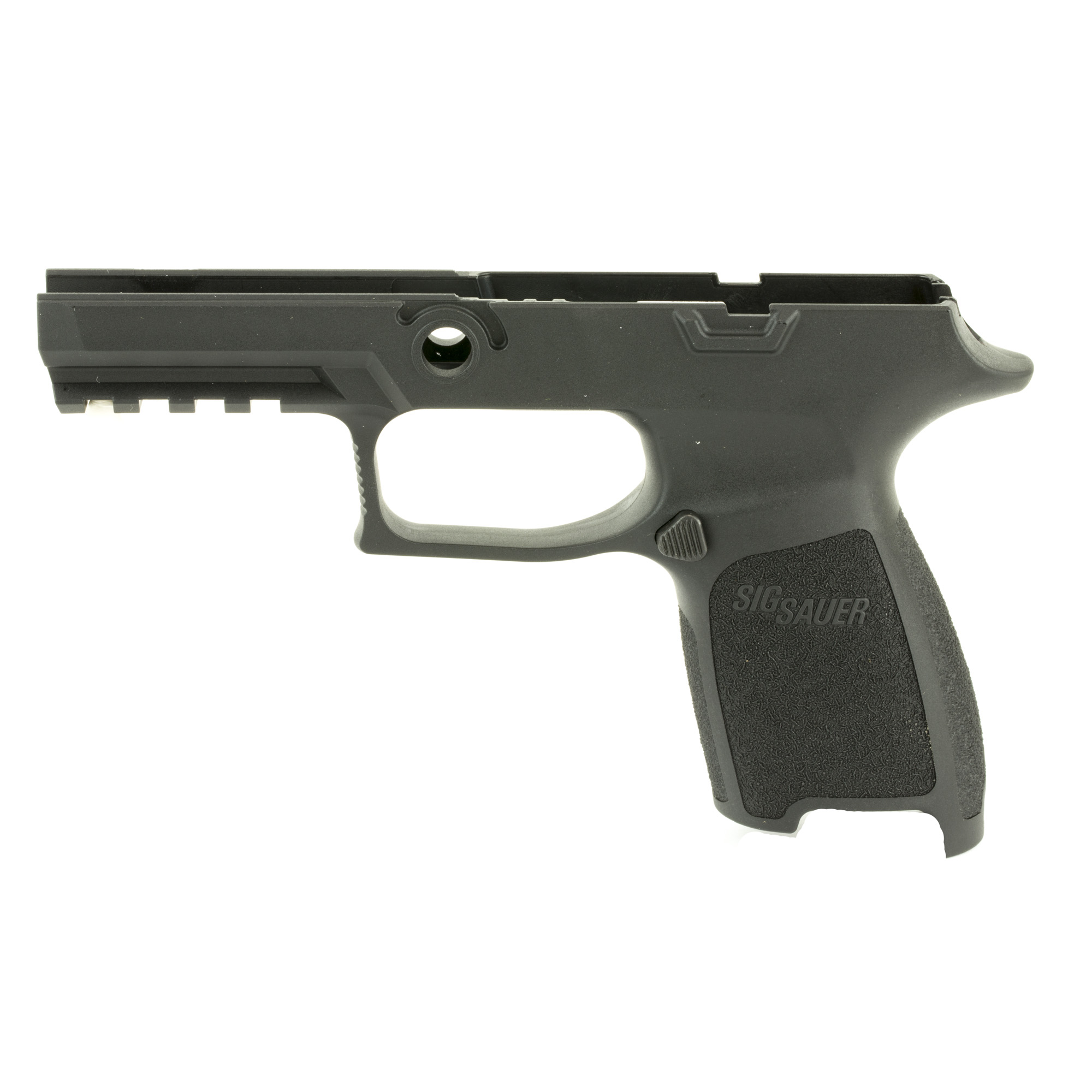 "Install your P320/P250 firing control unit into this Grip Module Assembly to convert to a P320 or P250 compact chambered in 9mm"" .357 SIG"" .40AUTO. Requires the 9mm"" .357 SIG and .40AUTO slide and barrel. Available in three sizes (small"" medium"" large) and three colors (Black"" ODG"" FDE)."