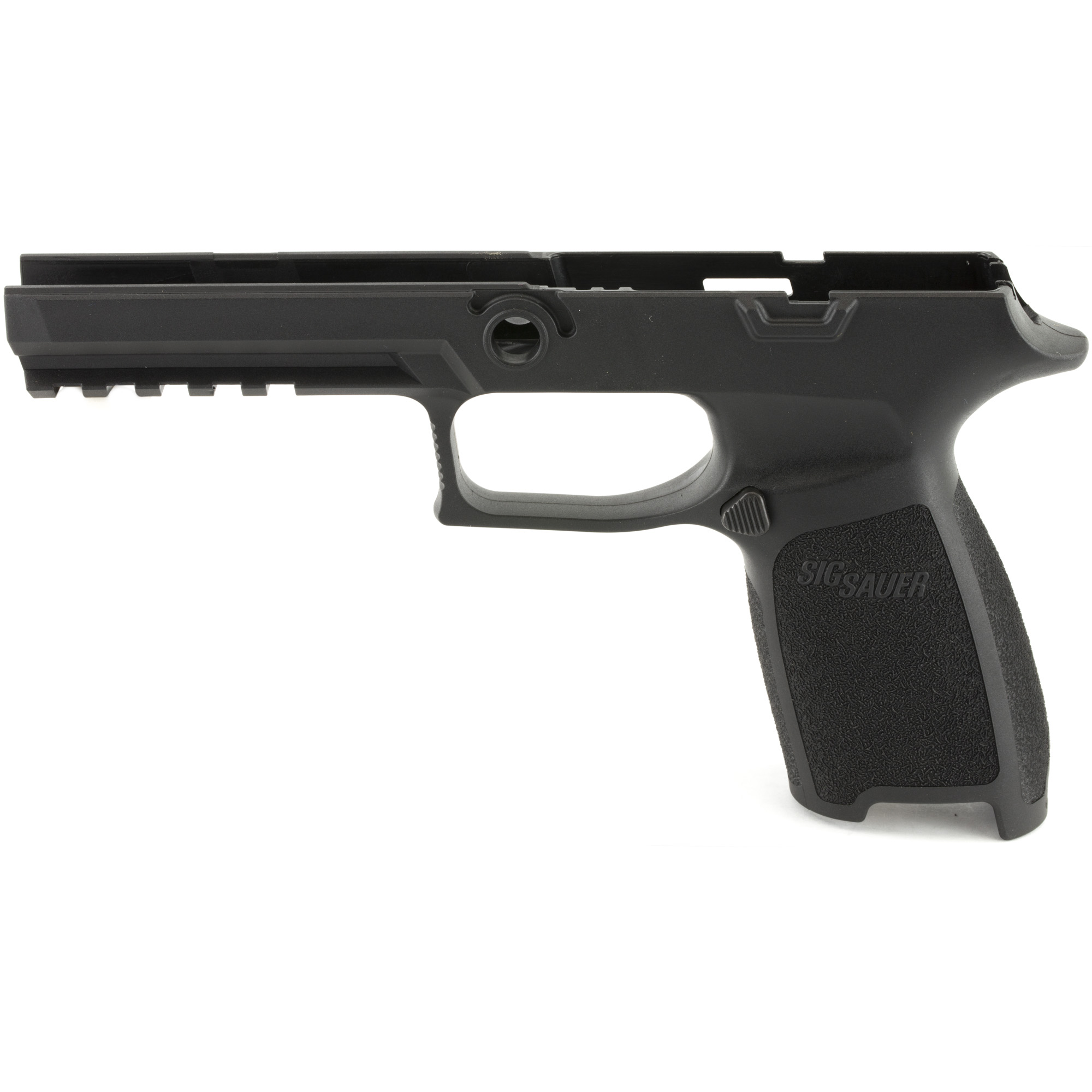 "Install your P320 / P250 firing control unit into this Grip Module Assembly to convert to a P320 or P250 full size chambered in 9mm"" .357 SIG"" .40AUTO. Requires the 9mm"" .357 SIG and .40AUTO slide and barrel."