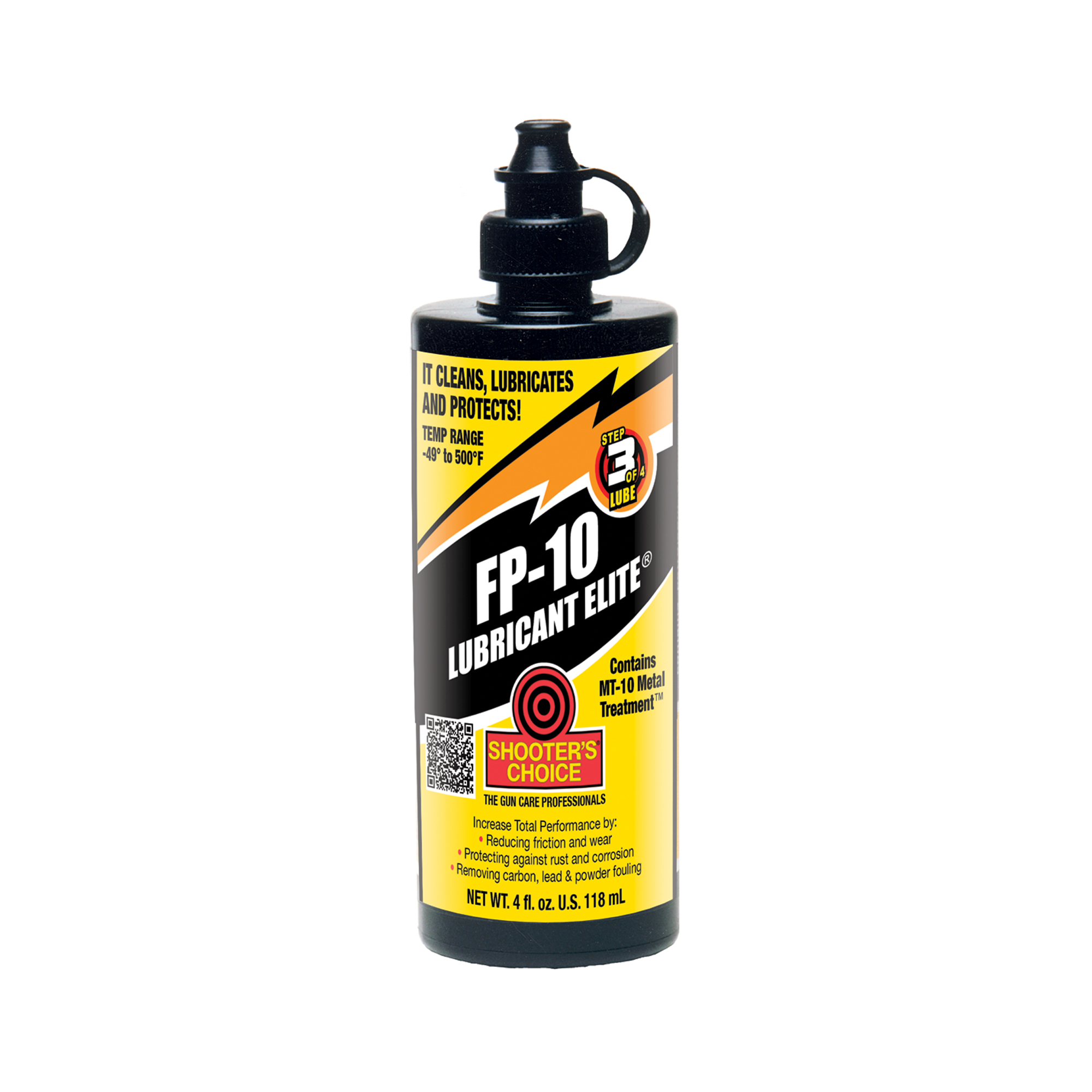 Shooter's Choice FP-10 Lubricant Elite is designed and formulated for the professional armorer and competitive sportsman for use in today's technically advanced weaponry.
