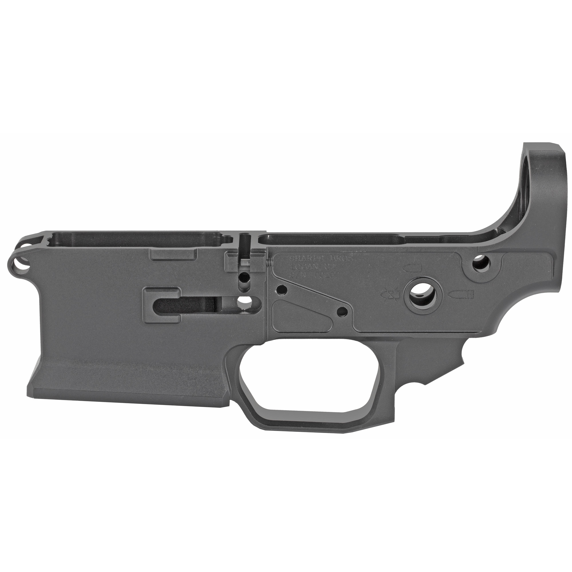 """The Livewire is a more traditional style AR15 receiver"""" but still unlike anything else out there with looks all its own. It has a heavily flared mag well"""" stepped transition between trigger guard and mag well"""" and clean lines."""