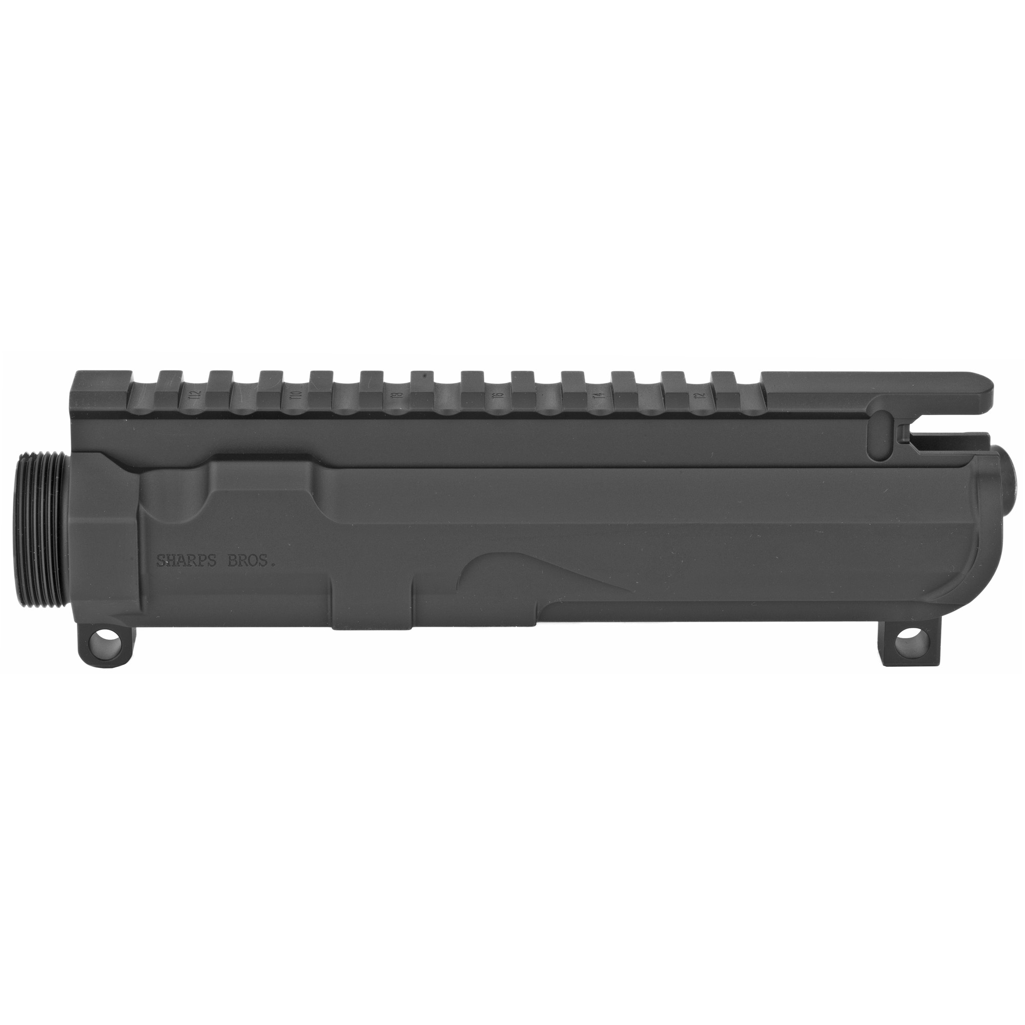 """Sharps often gets asked which upper matches the best with Sharps receivers. Any mil-spec upper will work"""" that is the beauty of the platform ... but which one fits and matches the best? The answer is this one. The SBUR03 matches all of Sharps lower receivers perfectly"""" but it also matches the lines of Sharps hand guards perfectly as well. This receiver is meant for .223"""" 5.56"""" .224 Valkyrie"""" 300 BLK and 6.5 Grendel calibers. Port opening is not large enough for 450 Bushmaster"""" 458 SOCOM or 50 Beowulf. Made from 7075-T6 just like Sharps lower receivers. Anodized black. Comes with forward assist kit & dust cover installed."""