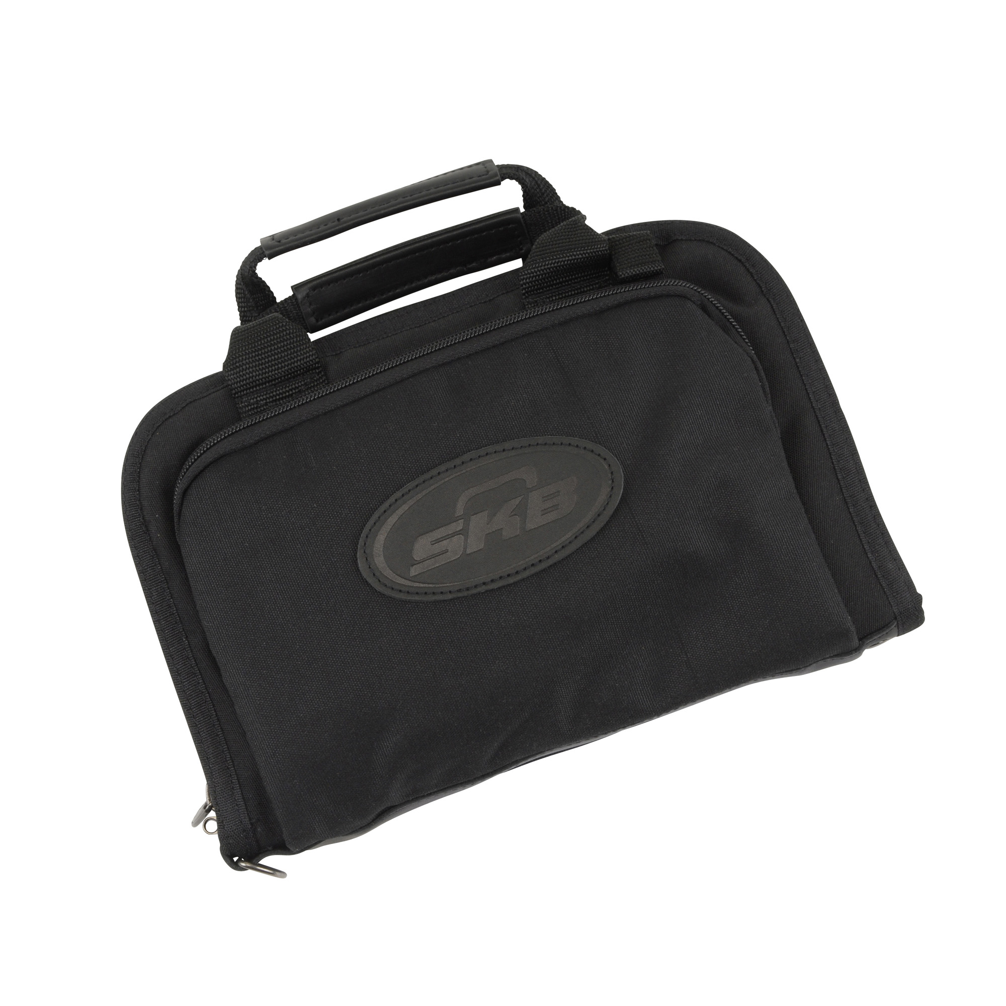 """The SKB Dry-Tek Rectangular Handgun Bags feature the patented """"Dry-Tek Difference"""". The two-layer padding will work in tandem to draw moisture from the inner bag. The inner pad layer enables water to pass through to the outer layer where a remarkable one-way laminate membrane applied to the outer layer allows water molecules to exit the bag"""" but not to enter. The result"""" your gun stays dry!"""