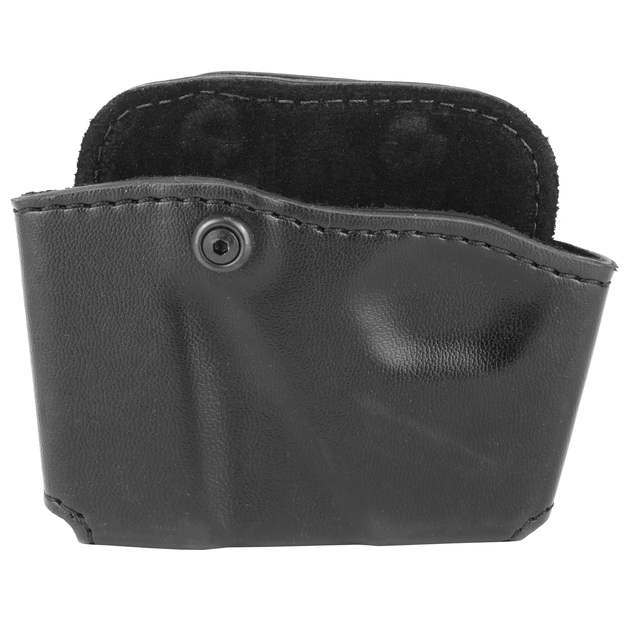 "The Model 573 is a handy combination magazine and handcuff pouch"" complete with a quick on/off paddle. Its SafariLaminate(TM) thermal molded construction provides durability and excellent equipment protection. Comfortable to wear"" it's suede lining holds the items securely and quietly. It features an Allen screw to adjust tension for magazine size. The unique paddle design is rigid in the center and flexible around the edges and includes a self-locking belt hook. Fits up to 1.75"" (45mm) belt."