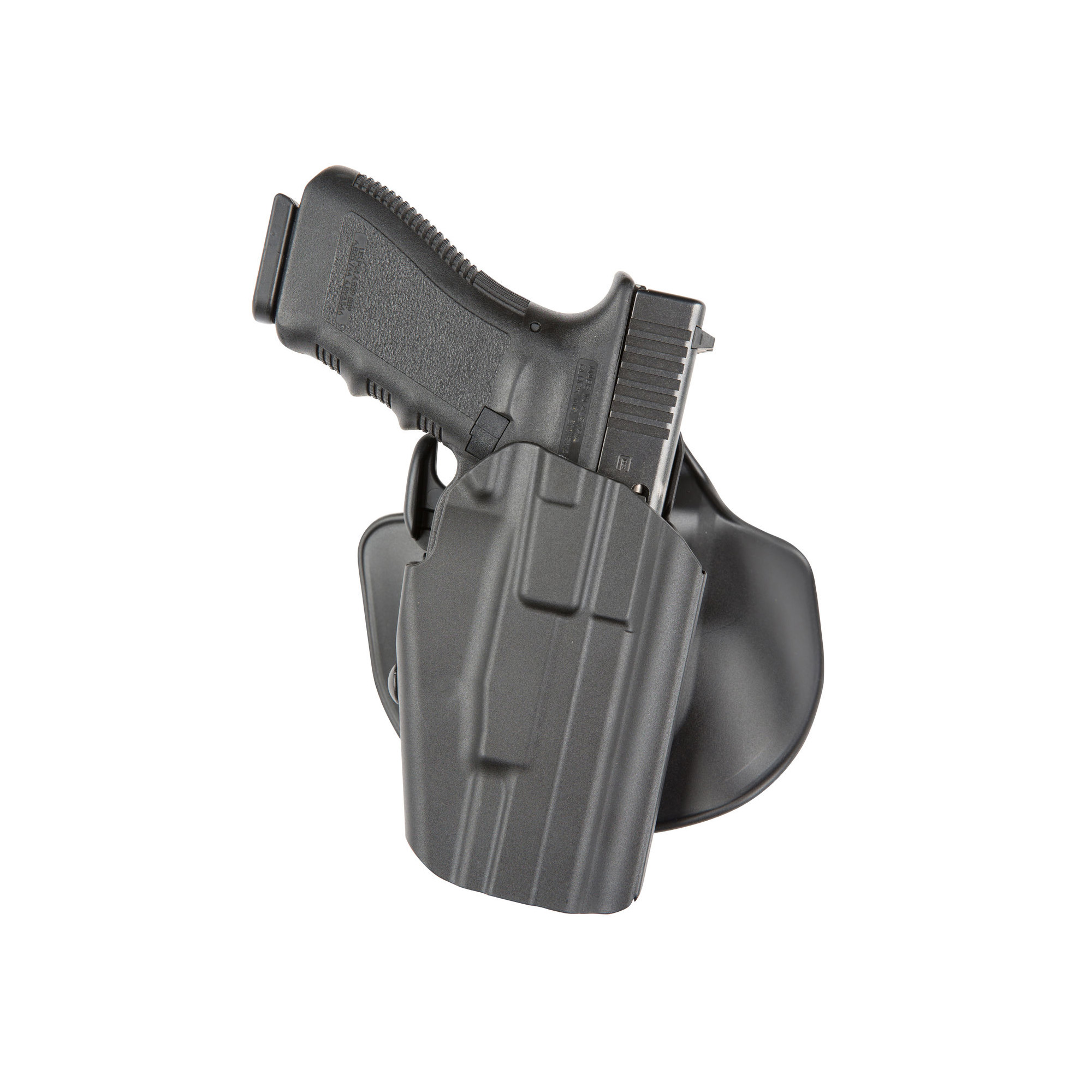 "The Model 578 GLS(TM) Pro-Fit brings the unique GLS(TM) (Grip Lock System) and SafariSeven(TM) together in a holster designed to fit a wide variety of guns. The Pro-Fit(TM) is customizable and adjusts to securely fit over 60 firearms. The 578 also features the GLS(TM)"" an innovative technology that automatically secures the weapon when holstered and releases it upon application of the middle finger with a standard shooting grip for a more intuitive and safer release. The holster body is constructed with SafariSeven(TM)"" a lightweight"" state-of-the-art nylon blend is completely non-abrasive to a gun's finish"" tolerant of extreme high and low temperatures"" and easy to maintain. This holster includes an injection-molded paddle and an injection-molded belt loop that is adjustable for maximum comfort and allows the holster to be worn cross draw."